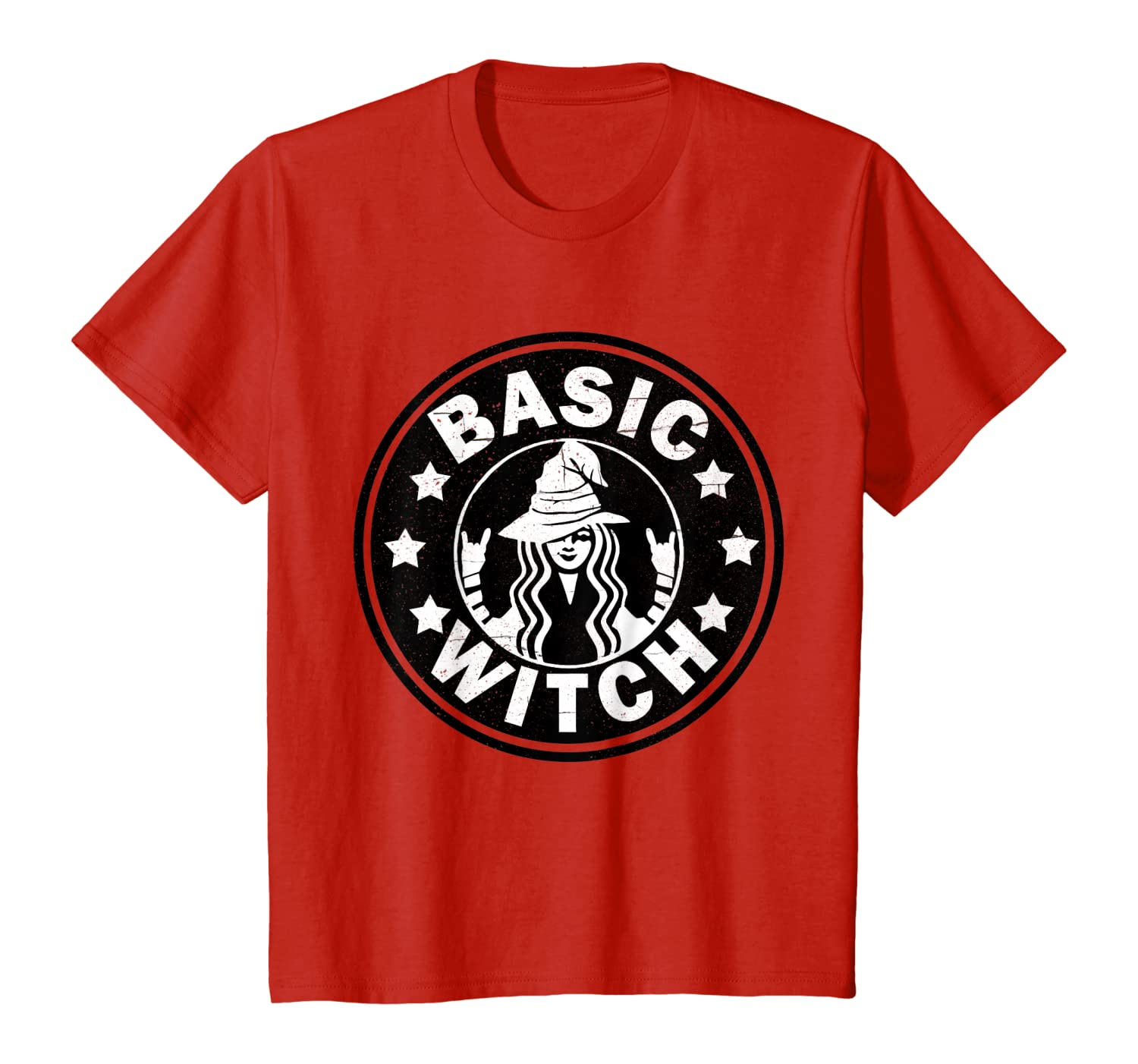 Amazon Com Funny Basic Witch Halloween Distressed T Shirt T Shirt Clothing