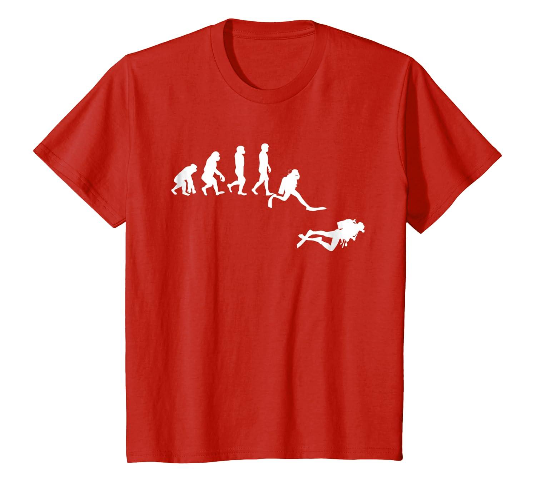 Scuba Dive T- Shirt Evolution Diving Diver Ocean Lover Gift Unisex Tshirt