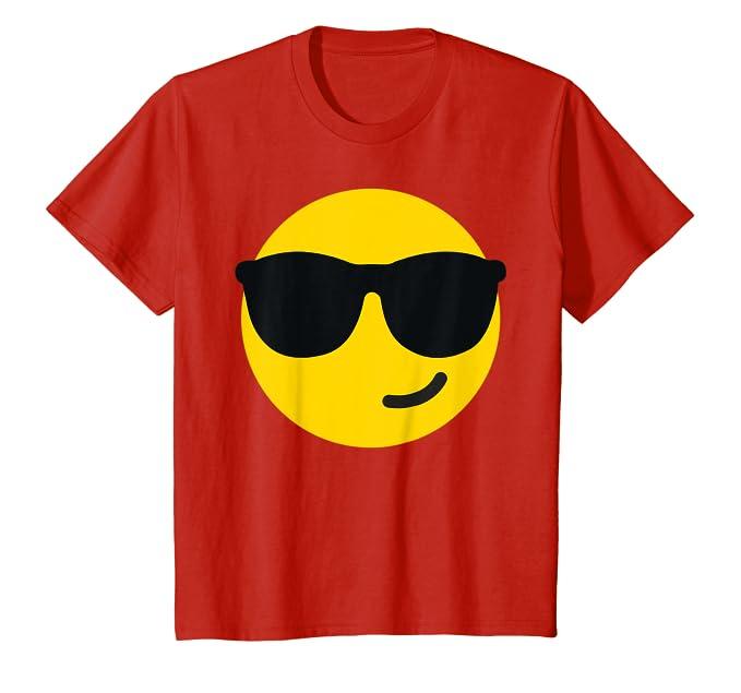 Amazon.com: Gafas de sol (frío) Emoji Camiseta de BelDisegno ...