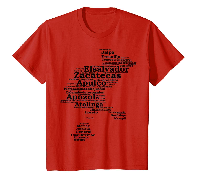 Amazon.com: Zacatecas México T Shirt, niños 6, Rojo: Clothing