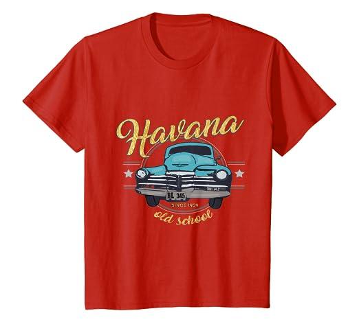 Amazon.com: Havana Cuba - Camiseta de la vieja Escuela ...