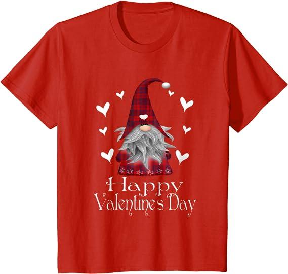 Gnome Happy Valentine/'s Day Tee