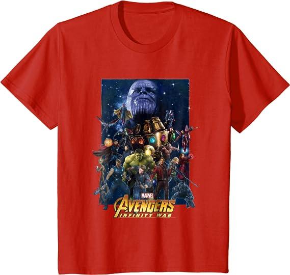 Avengers Endgame Lineup Space Suit Official Marvel Infinity War White Men Tshirt