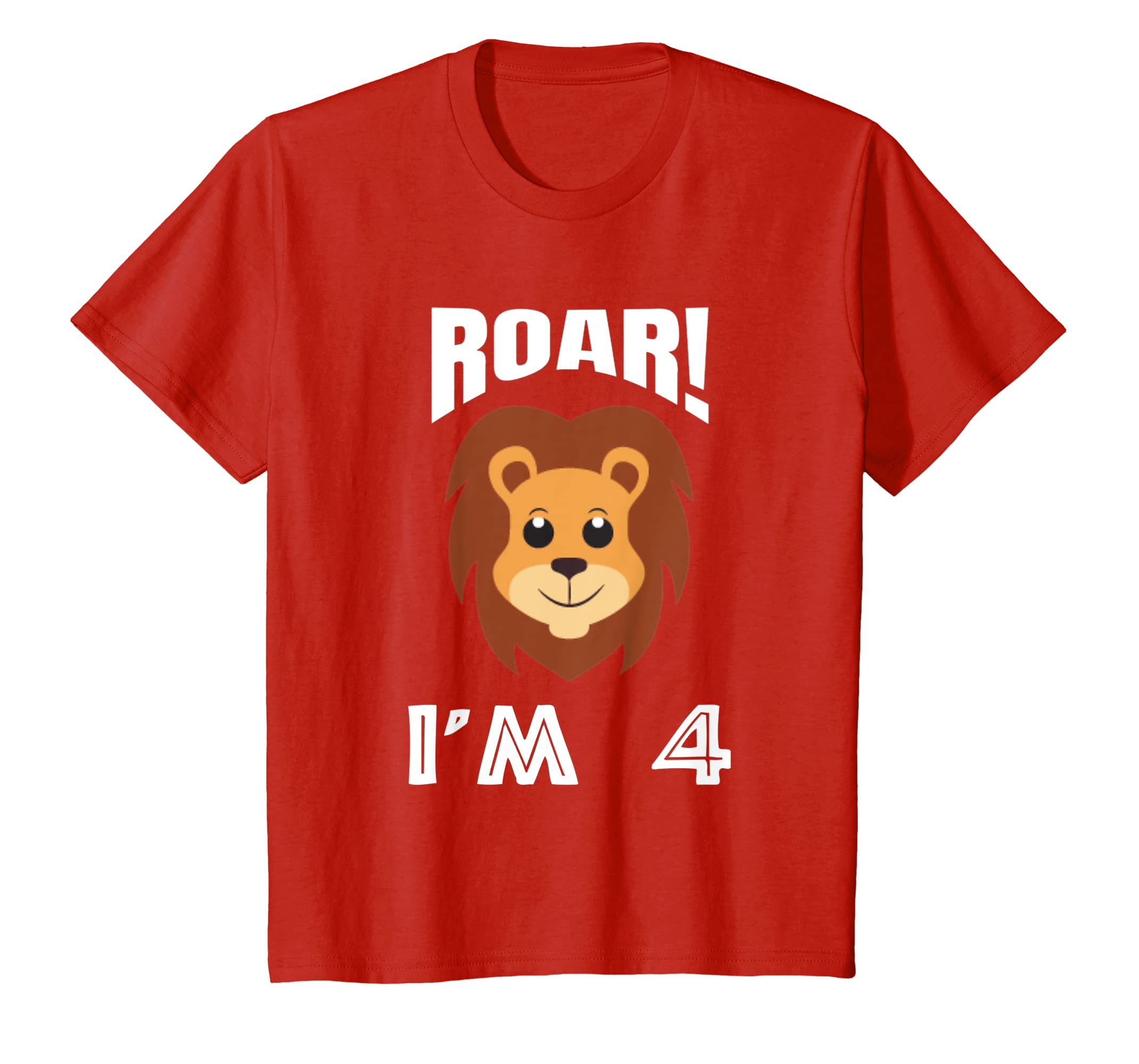 Amazon Kids Roar Im 4 Shirt 4th Birthday Boy Lion Gift Clothing