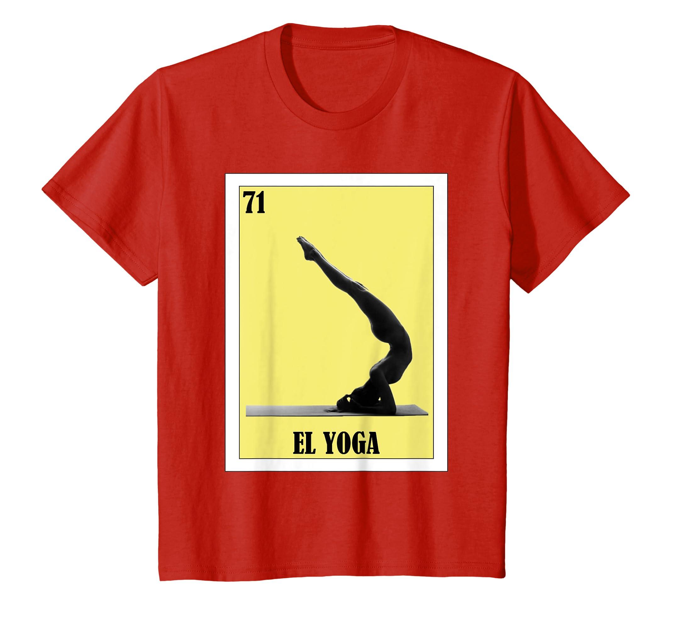 Amazon.com: Loteria Shirts - El Yoga T Shirt - Spanish Yoga ...