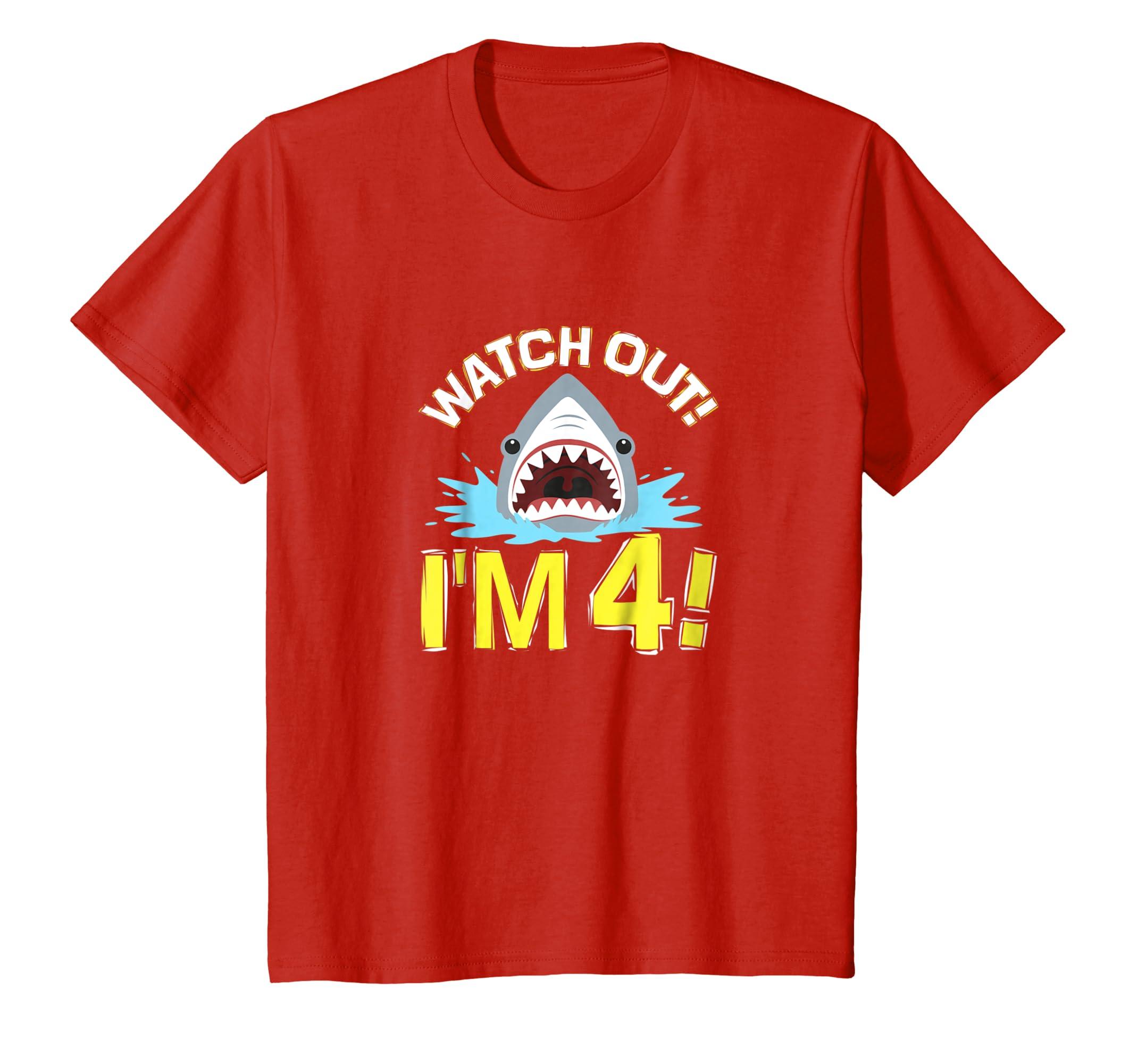 4th Birthday Shark Shirt-Teehay