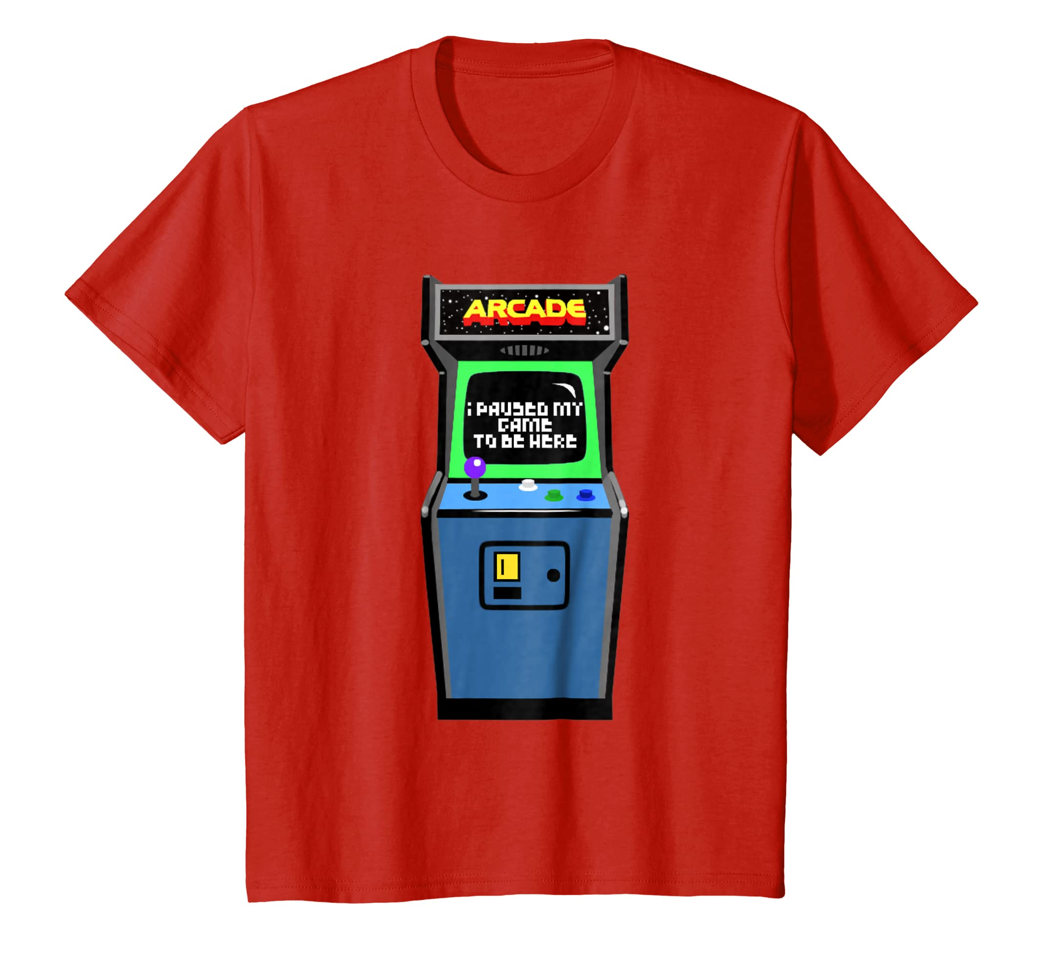 143ddc72b9c Amazon.com  retro i pause my game to be here arcade gamer gift T-shirt   Clothing