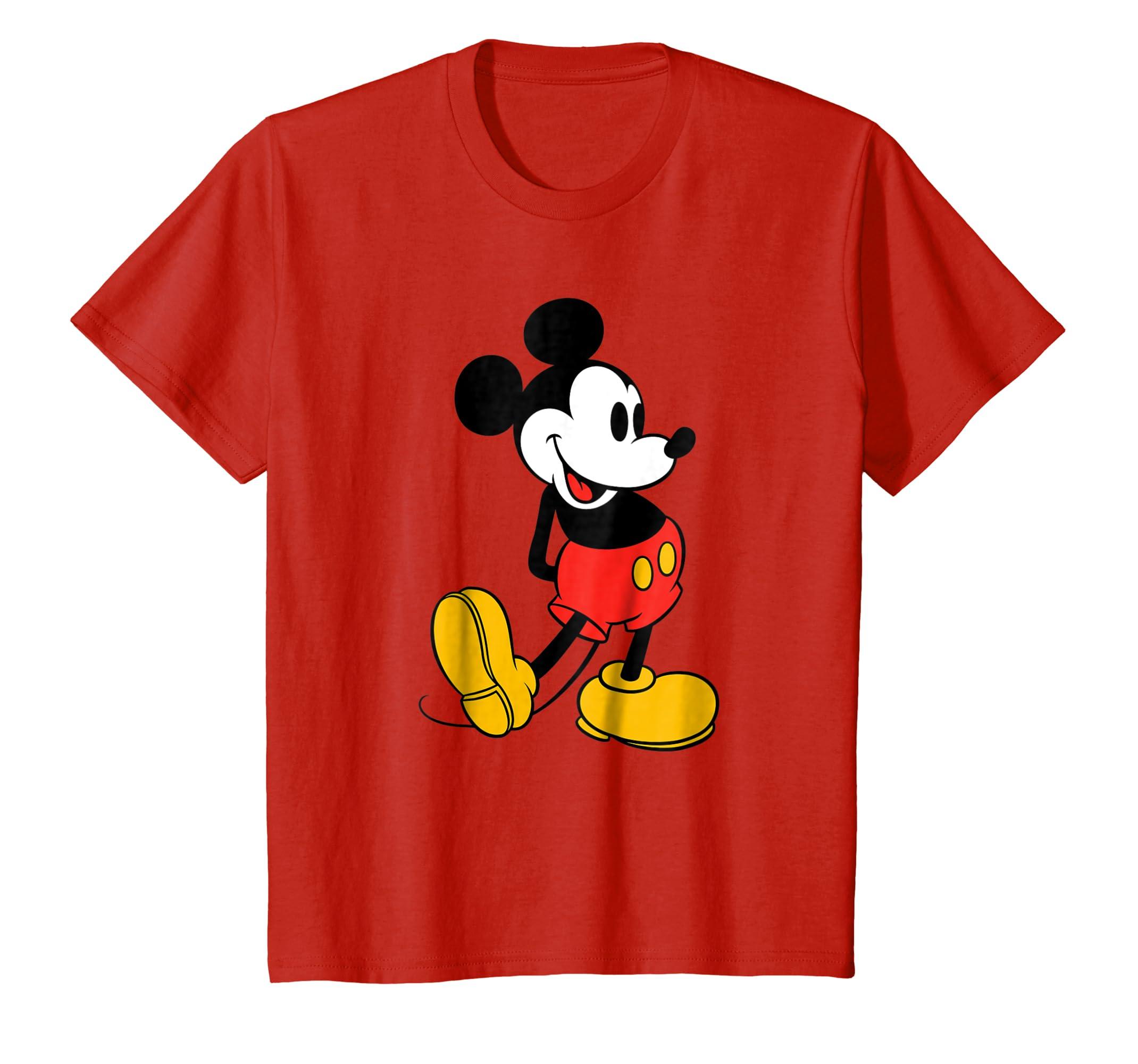 e1b8bbe274b Amazon.com  Disney Classic Mickey Mouse T-Shirt  Clothing