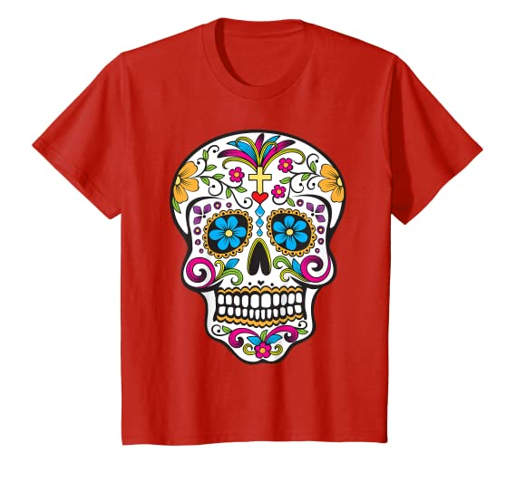 756a22b8426 Day of the Dead Sugar Skull T-Shirt