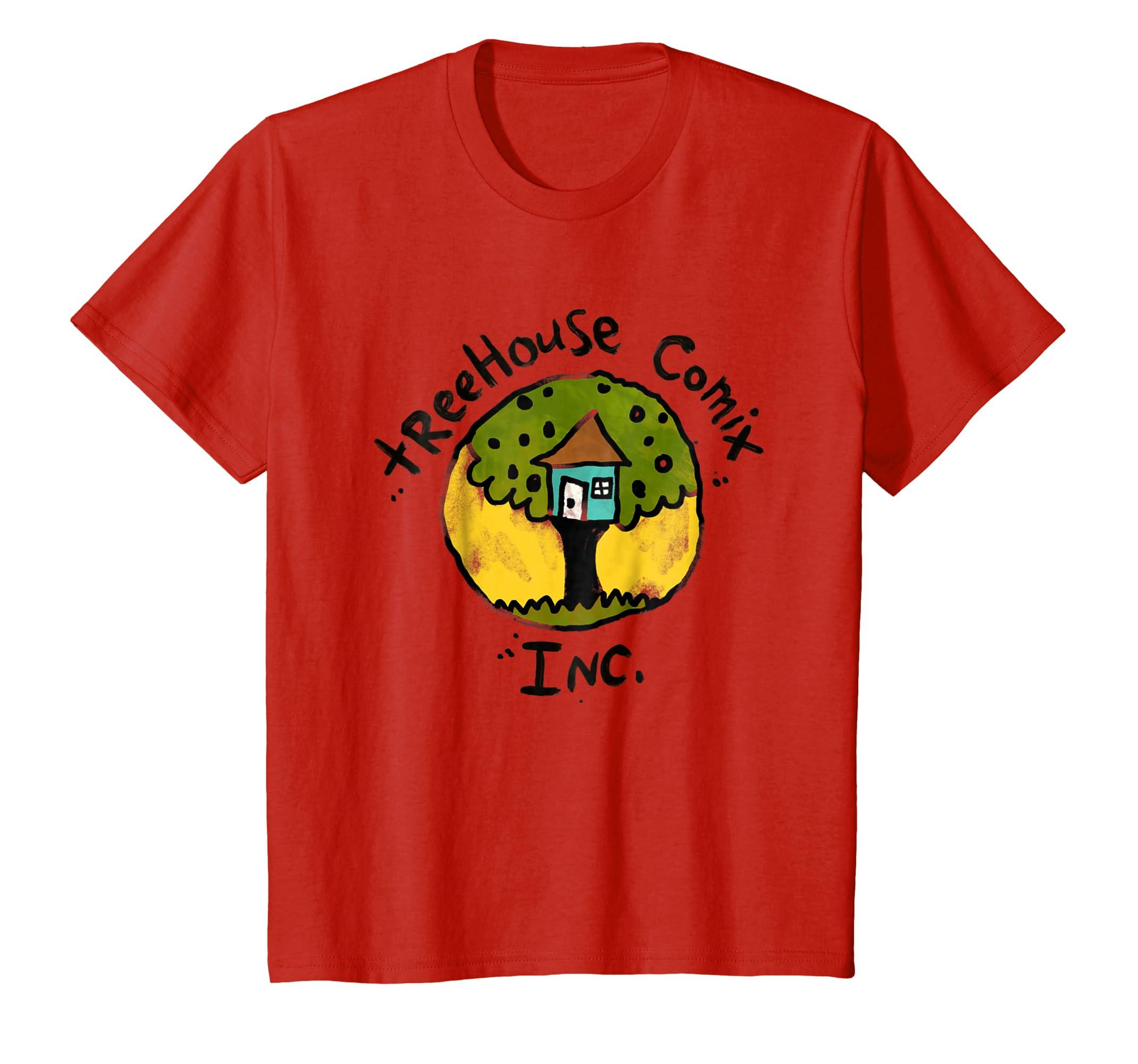 cc935c98a Amazon.com: Kids DreamWorks Captain Underpants Treehouse Comix Inc. T-Shirt:  Clothing