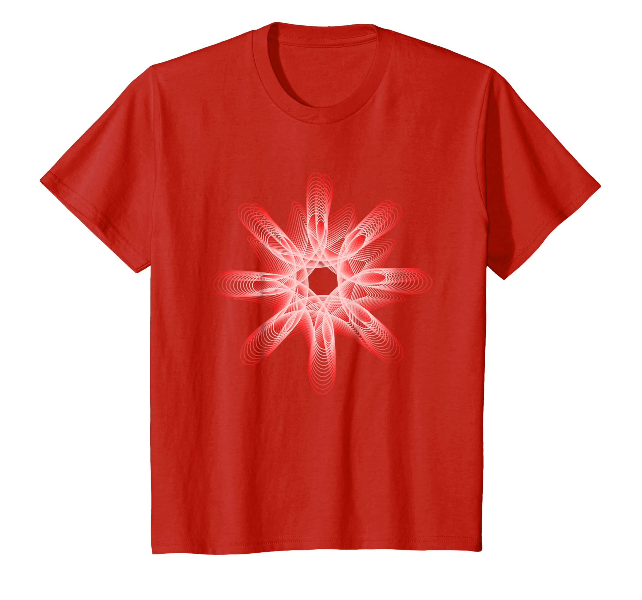 Amazon Com Shapes Mania Abstract Dreamy Nerdy Red Spiro T