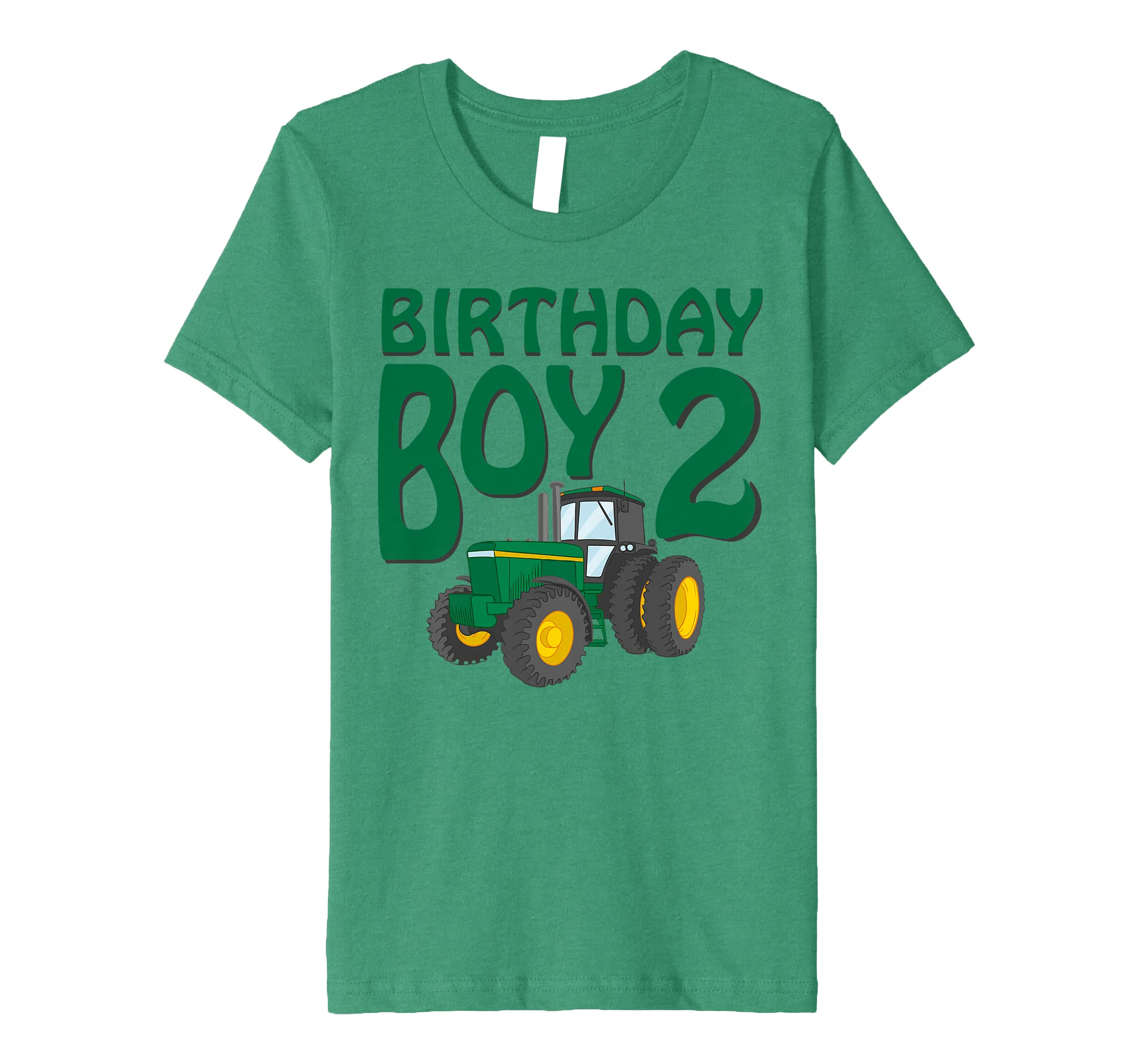 Amazon Kids 2nd Birthday Green Farm Tractor Shirt