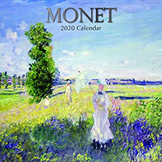 2020 Wall Calendar - Monet Calendar, 12 x 12 Inch Monthly View, 16-Month, Famous Artists and Artworks Theme, Includes 180 Reminder Stickers