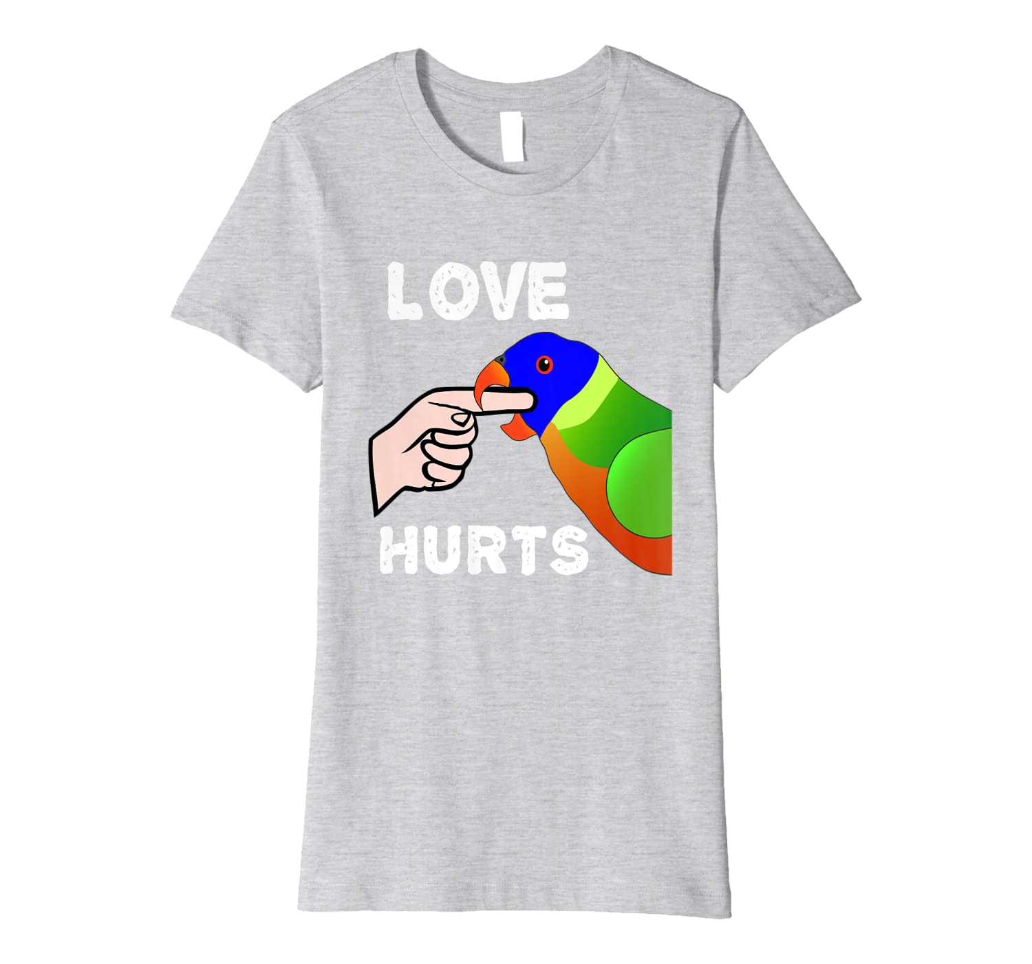 Love Hurts Lorikeet Parrot Biting Premium T-Shirt