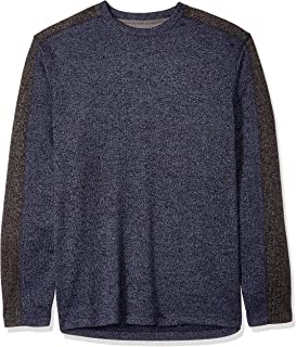 Van Heusen Men's Big and Tall Flex Long Sleeve Colorblock Crewneck Pullover Sweater