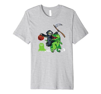 Amazon.com: Grim Reaper Riding T-Rex - Camiseta de manga ...