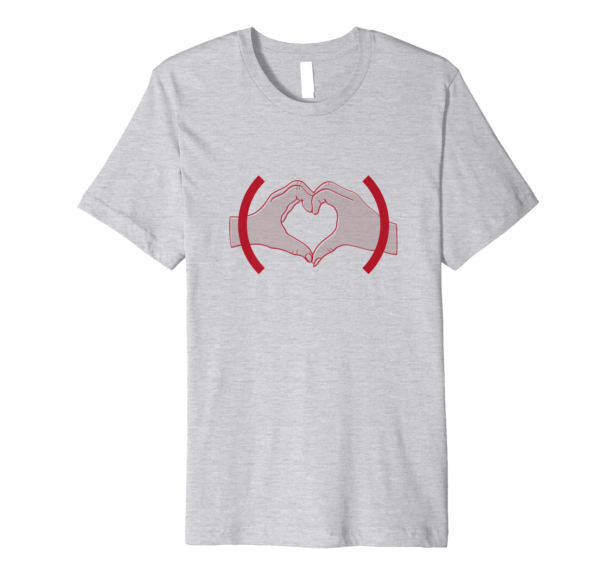(PRODUCT)RED Heart Hands T shirt-azvn