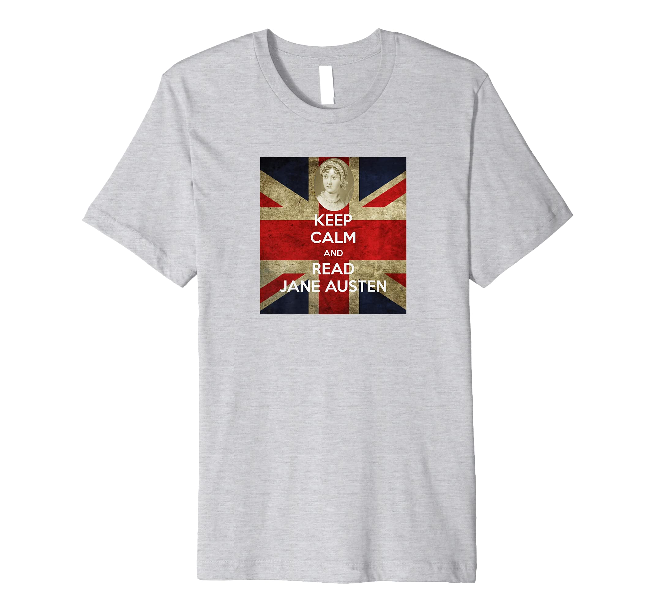 762d23263 Amazon.com: Keep Calm and Read Jane Austen Gift T Shirt: Clothing