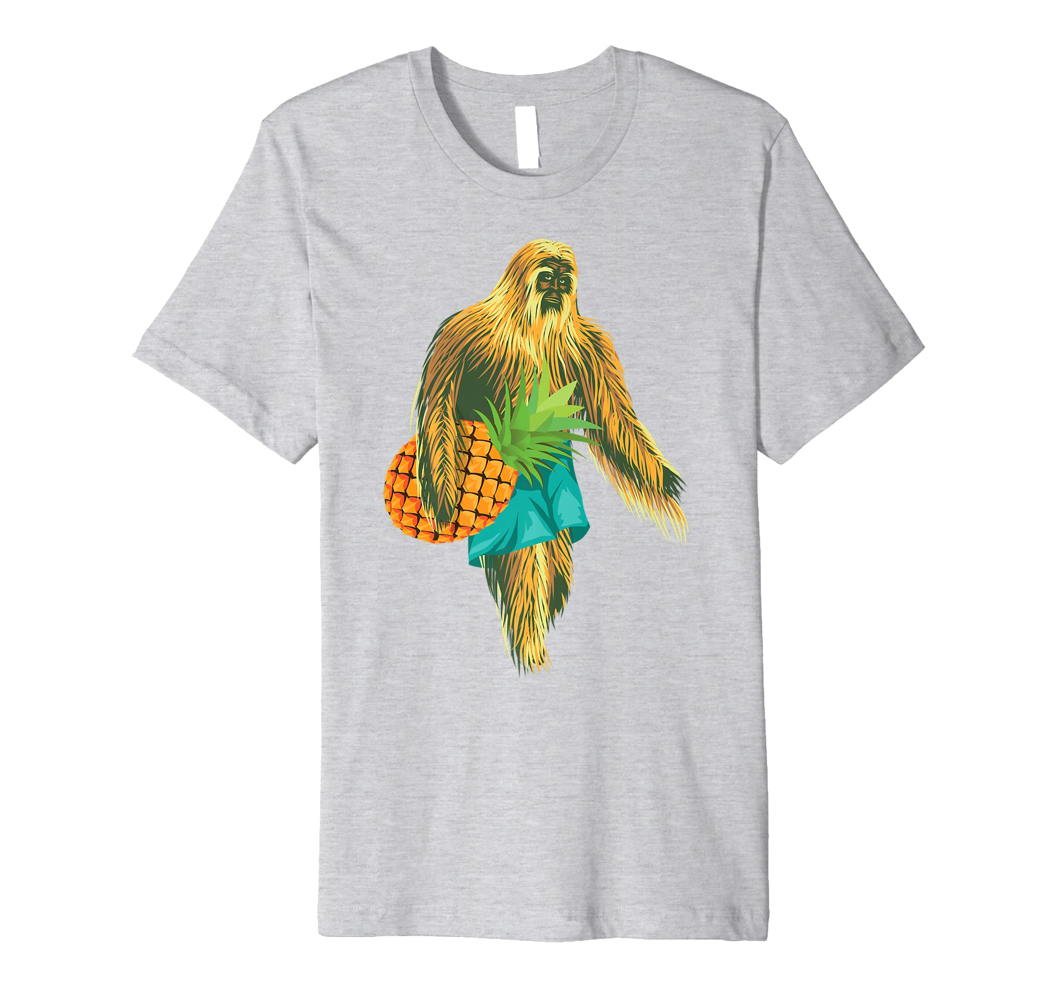 743bb94a Amazon.com: Bigfoot Carrying Pineapple Shirt | Cool Undefeated Ape Gift:  Clothing