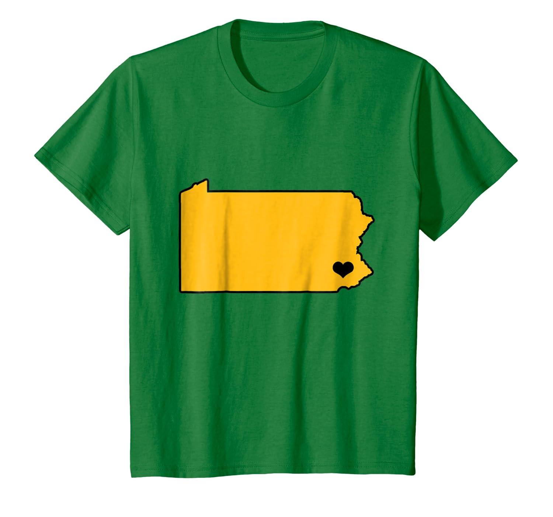 Pennsylvania Black and Gold I Love PA T-Shirt