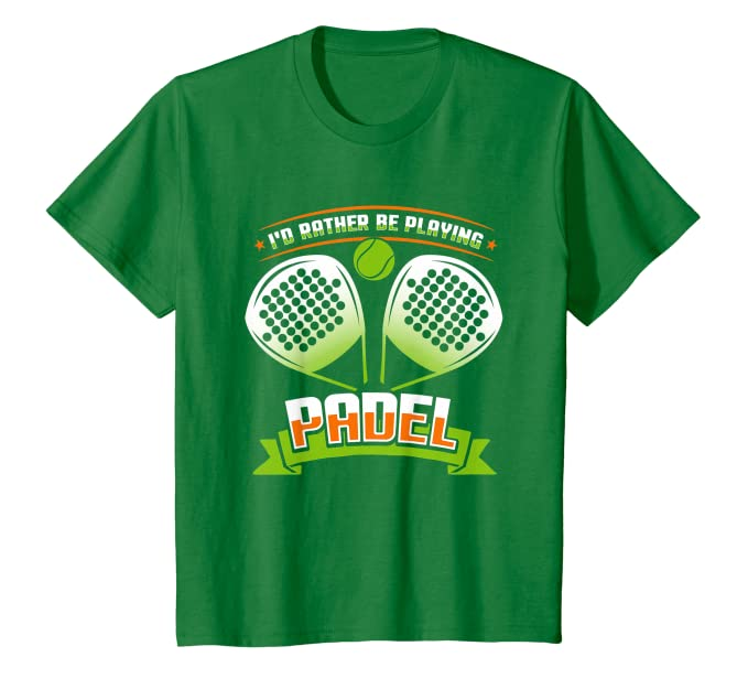 Amazon.com: I d Más Bien Be Reproducción Padel T Shirt ...