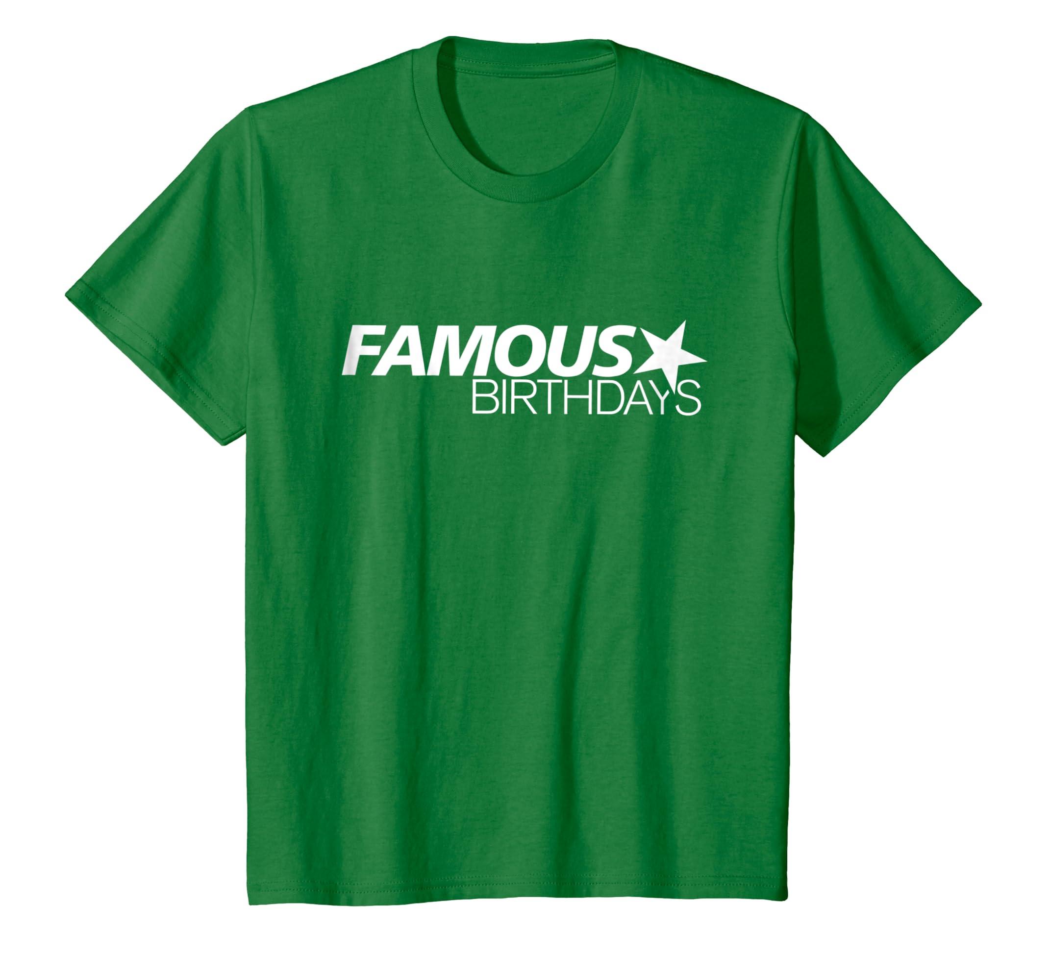 Amazon Com Famous Birthdays White Logo T Shirt Clothing