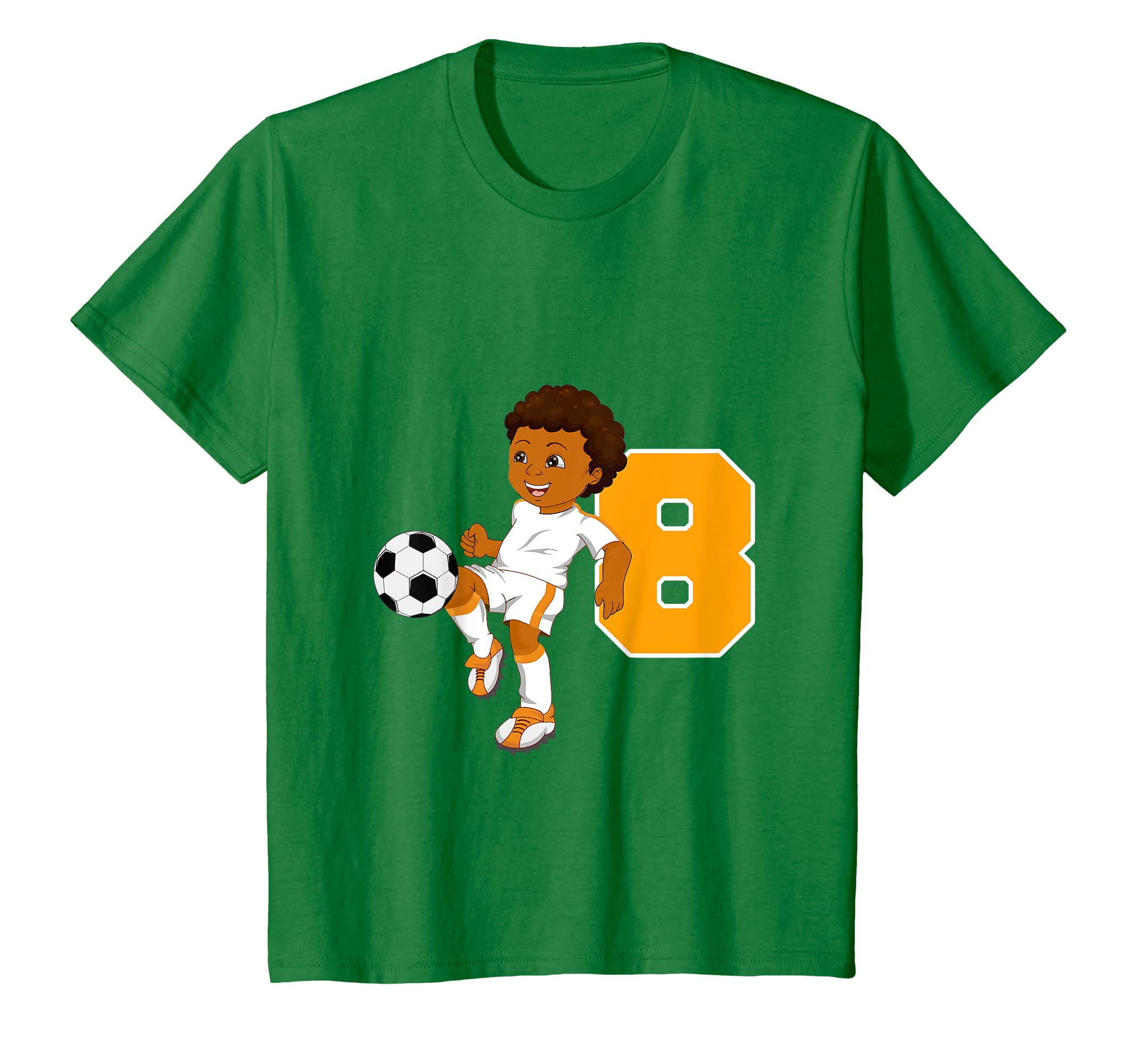 a93dc64309f Amazon.com  Kids African American soccer age eight t-shirt for boys   Clothing