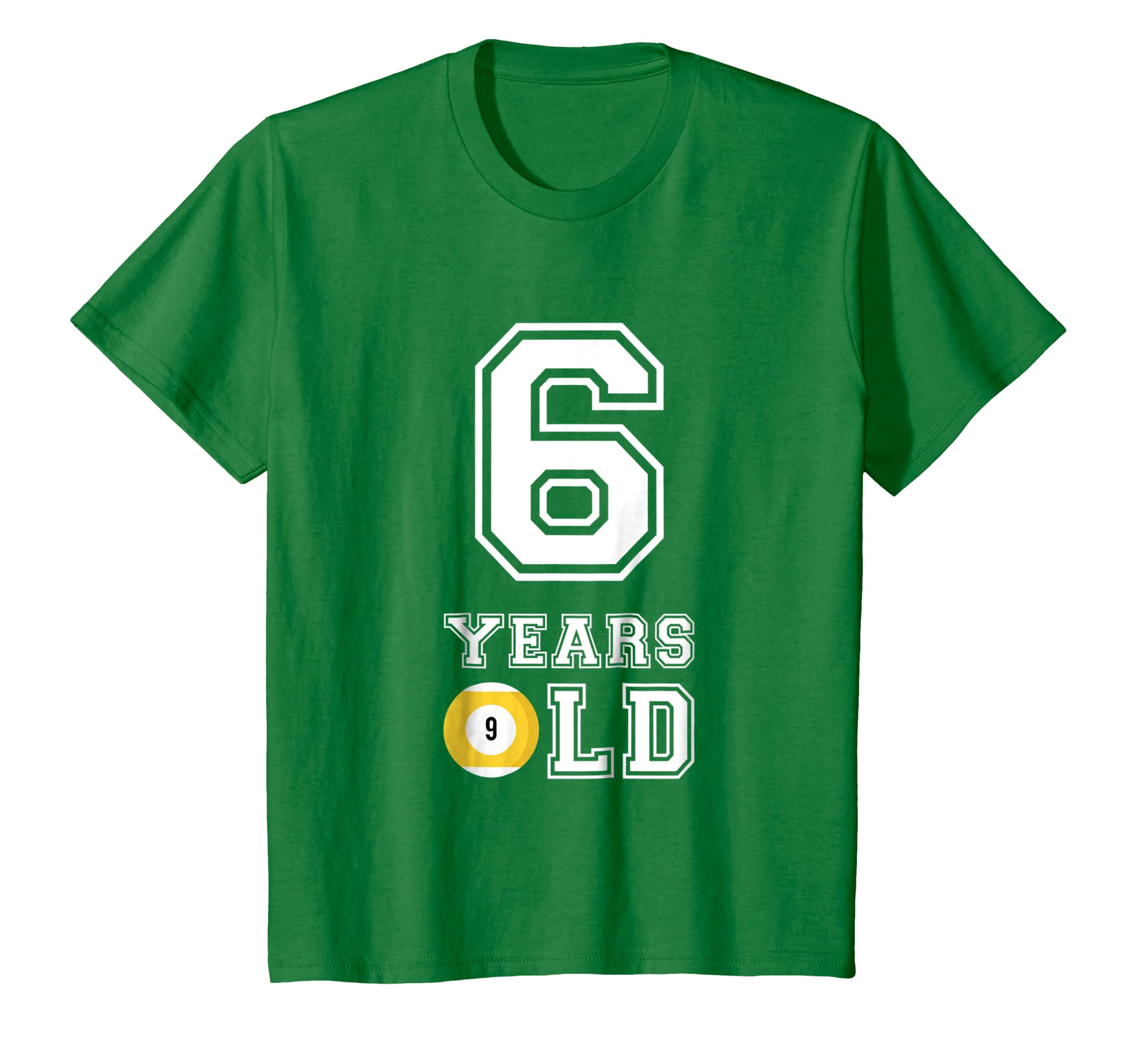 Amazon Kids 6 Years Old Billard Birthday Shirt Boys 6th Gift Clothing