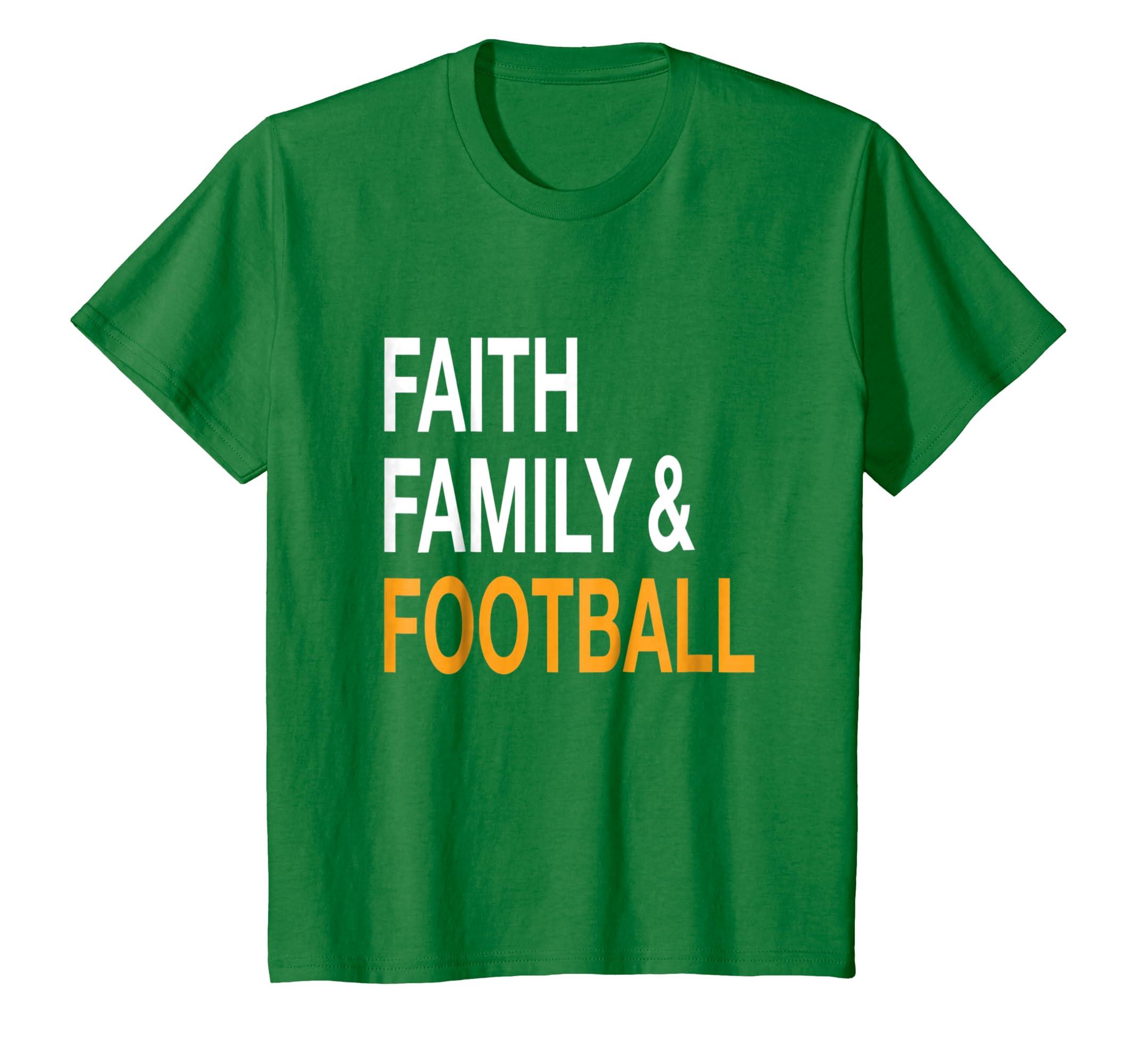 Faith Family & Football T Shirt  Funny Thanksgiving Tee-Awarplus