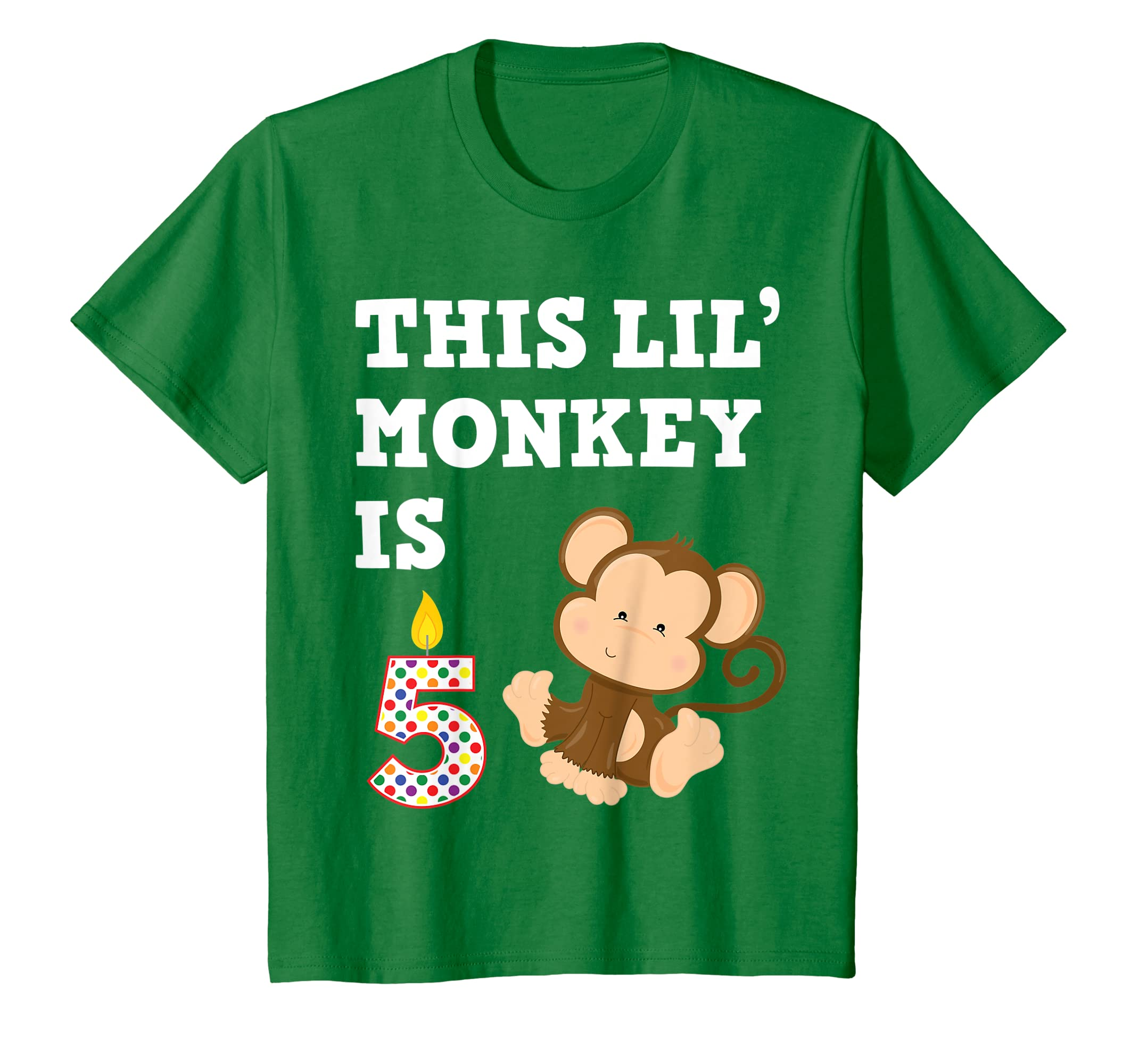 Amazon Kids Monkey Birthday Shirt 5 Year Old 5th BDay Gift Clothing