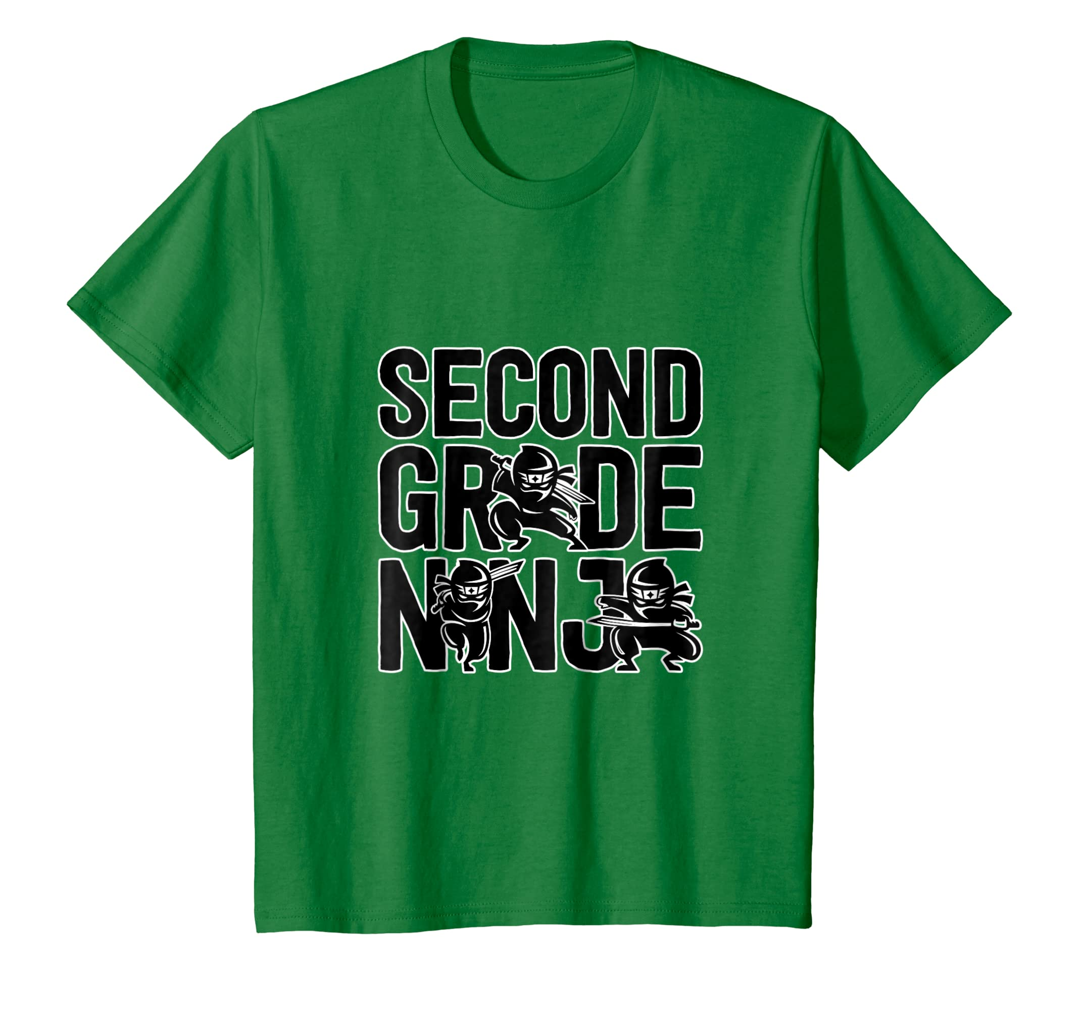 2nd Grade Tshirt Second Grade Ninja Boys Back to School Tee-Awarplus