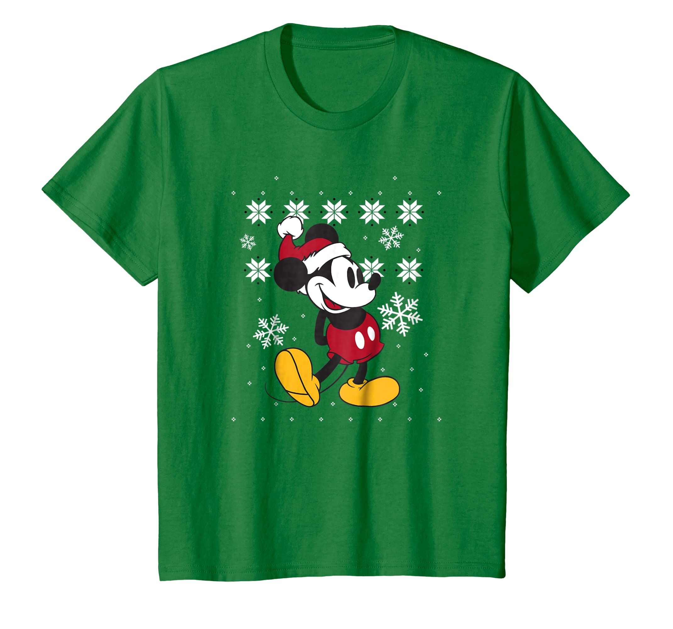 a0db5ca2e57 Amazon.com  Disney Faux Ugly Christmas Sweater Mickey Mouse T Shirt   Clothing