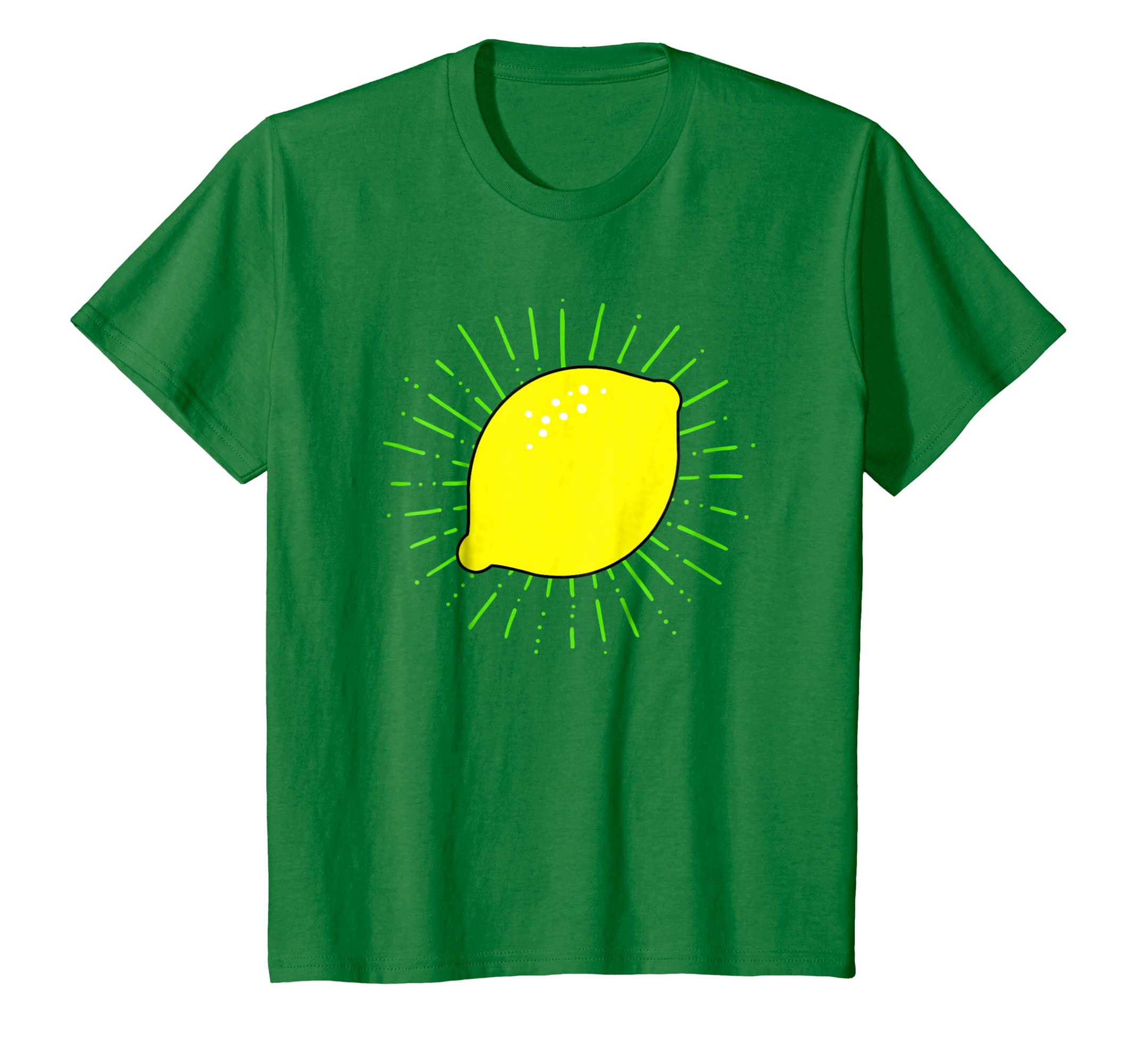 b76bd592ef6 Amazon.com: Lemon Print Shirt on White, Yellow, Green & Blue T Shirt:  Clothing