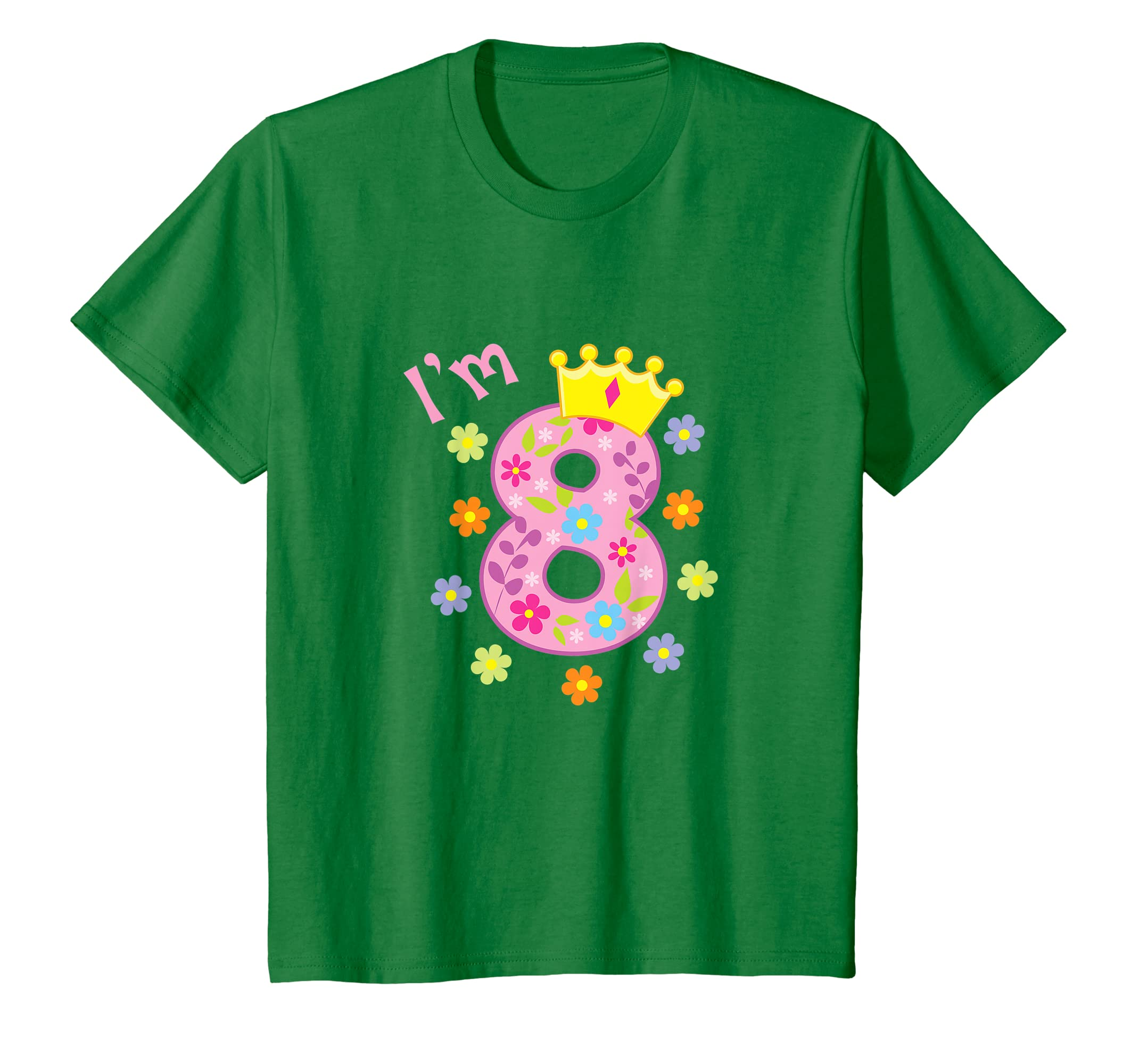 Amazon Kids Im 8 Birthday T Shirt Year Old Gift Tee For Girls Clothing