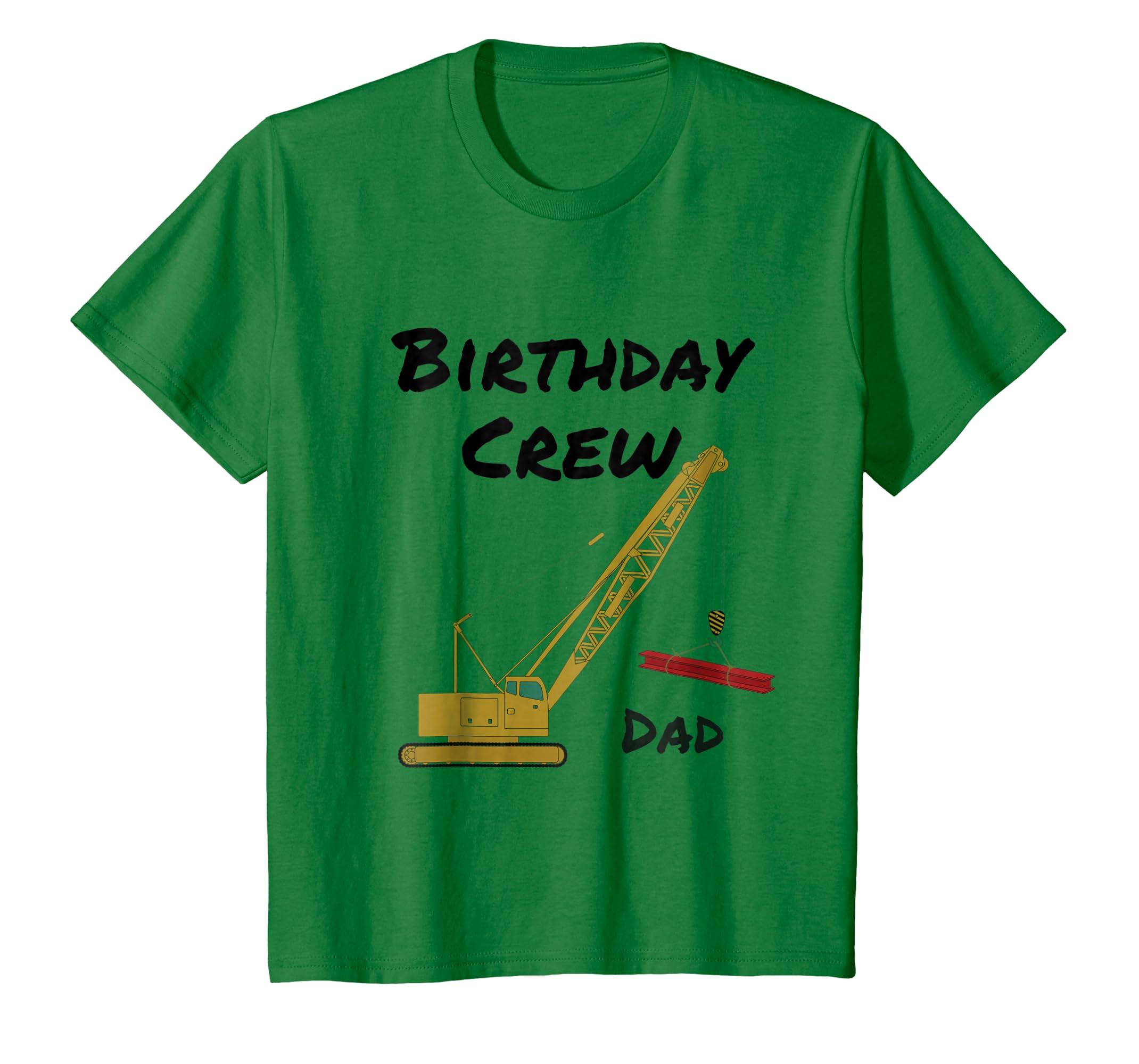 Amazon Birthday Crew Dad Crane Construction Party T Shirt Clothing
