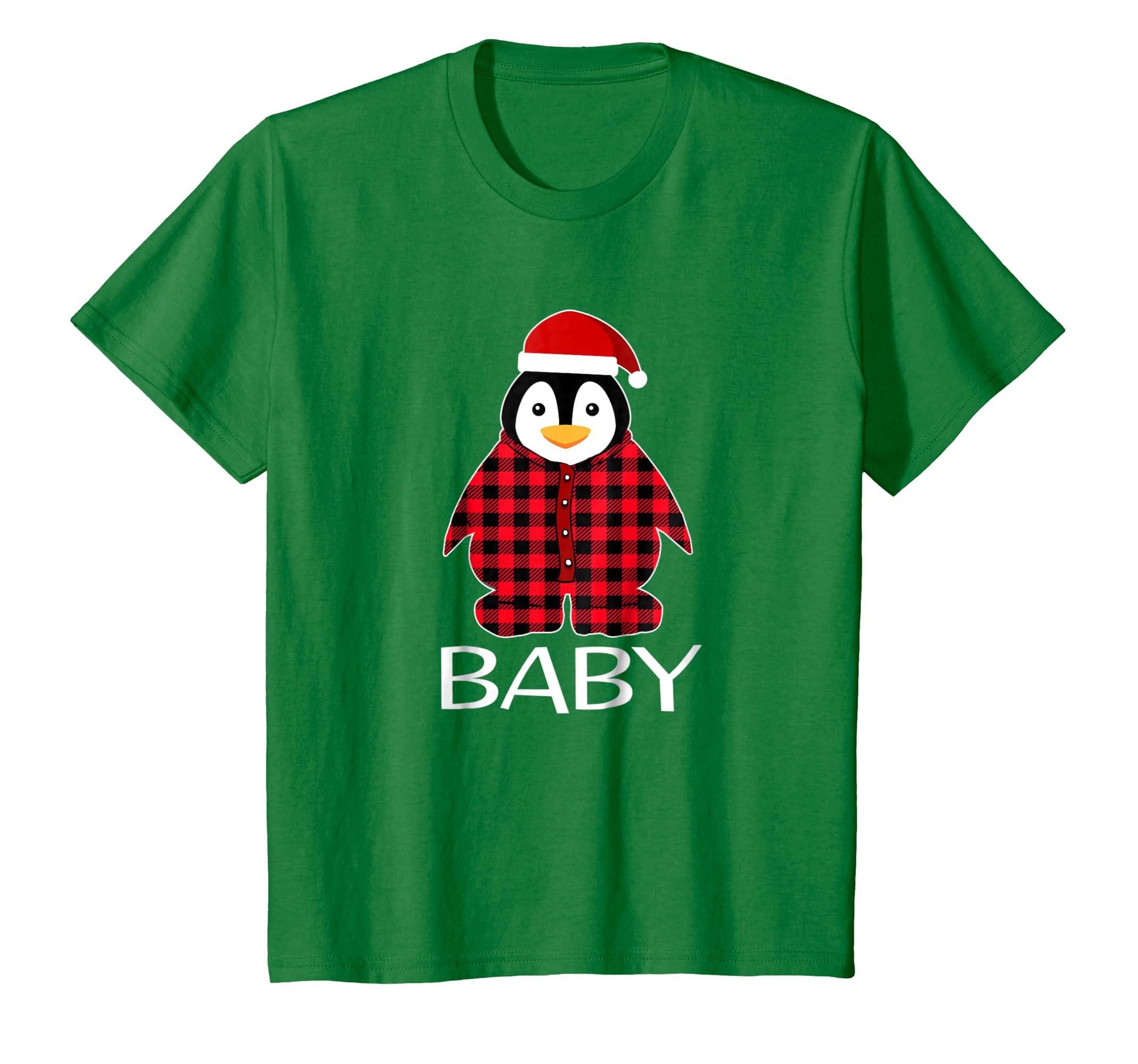 Baby Penguin Pajamas Ugly Family Christmas Season Tshirt-Teechatpro