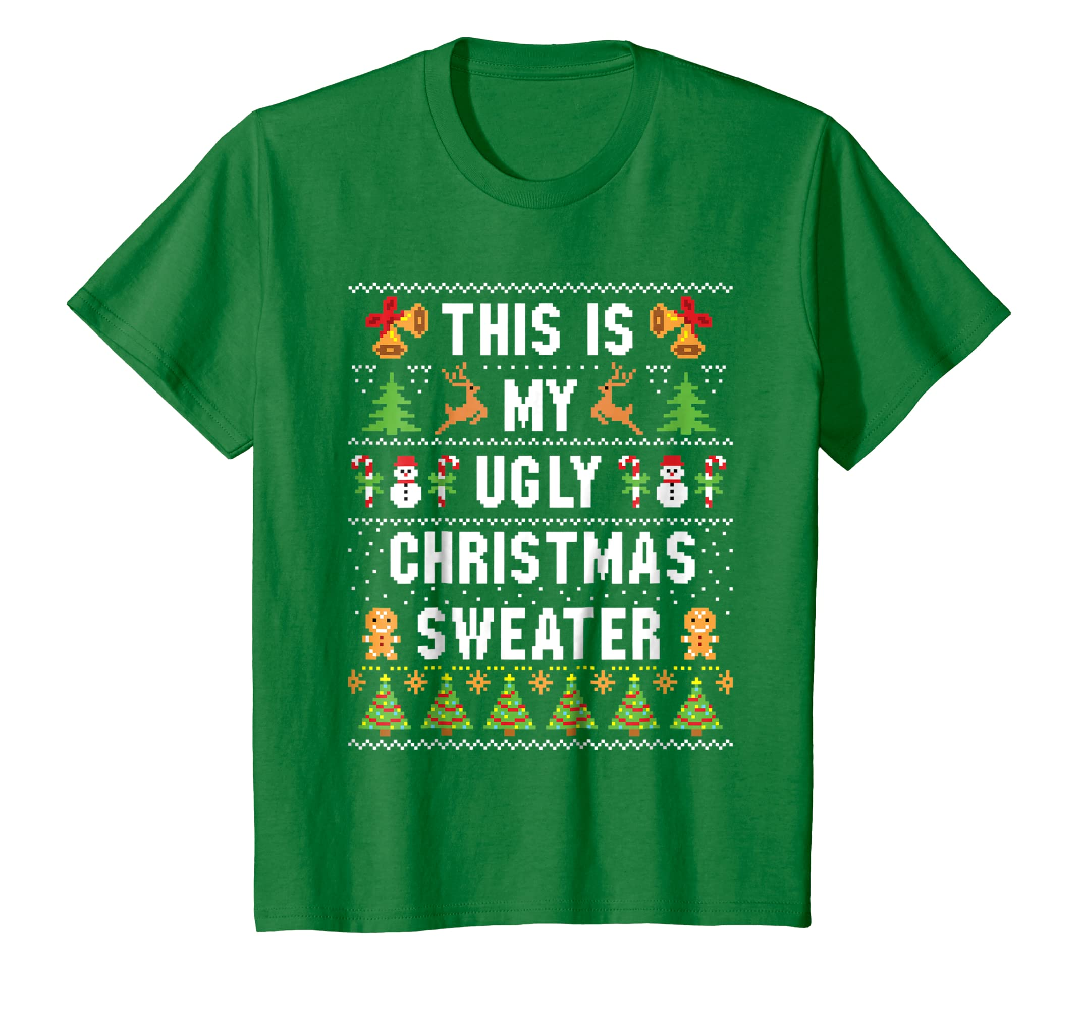 d7a71cdd9 Amazon.com: This Is My Ugly Christmas Sweater Funny Holiday T-Shirt:  Clothing