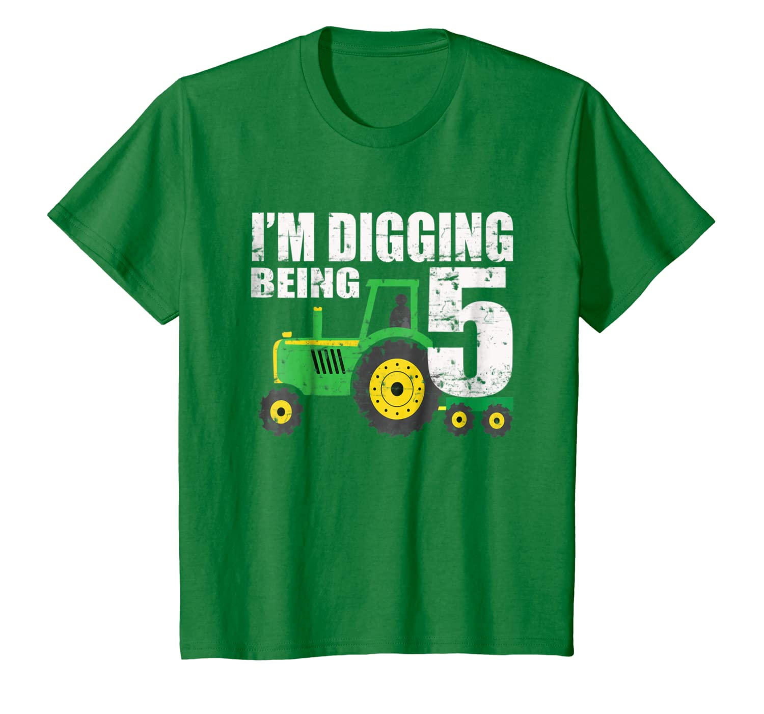 Amazon Kids 5 Year Old Tractor Birthday 5th Shirt Boy Clothing