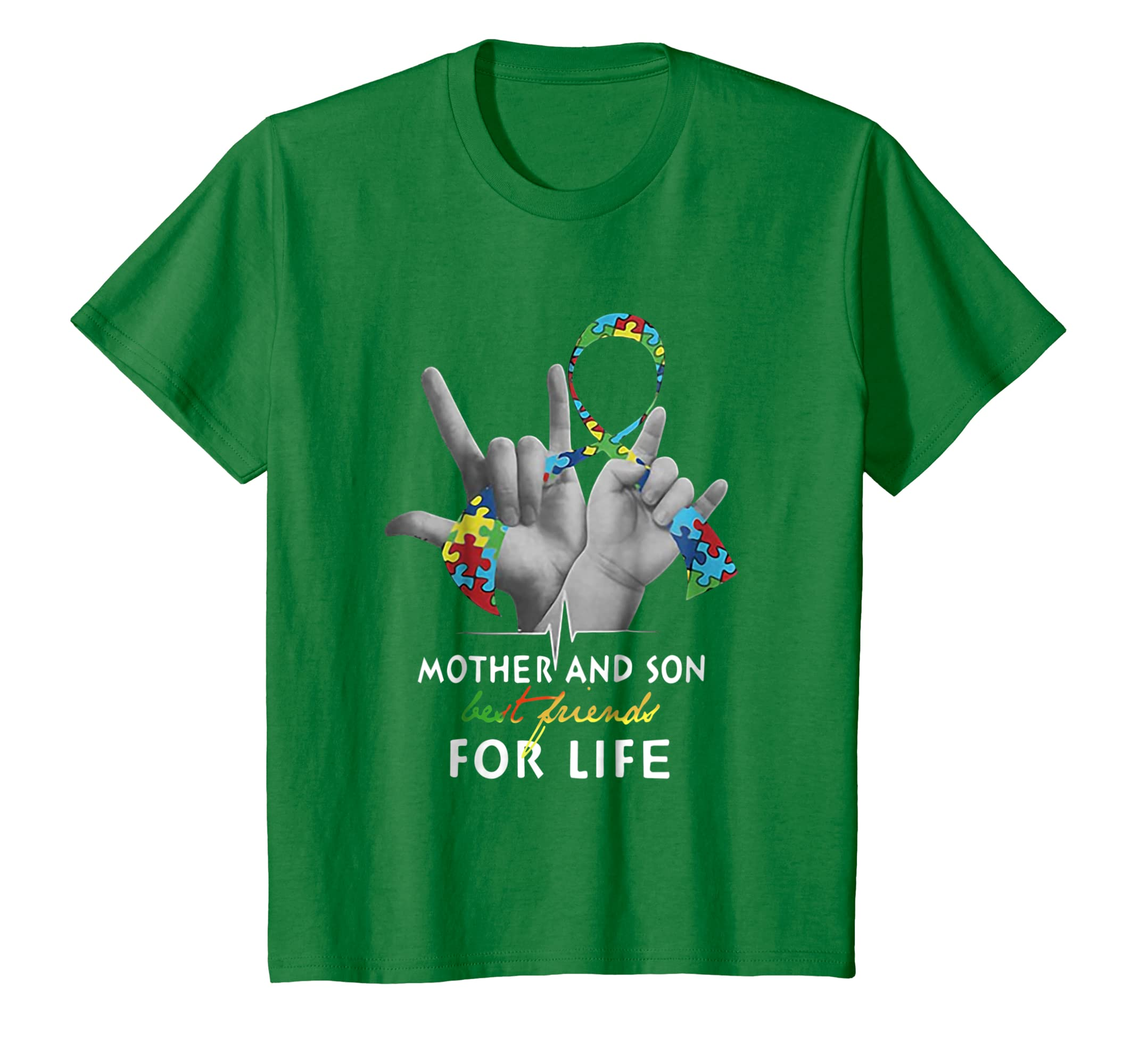 Mother And Son Best Friend For Life Autism Awareness Shirt-Colonhue