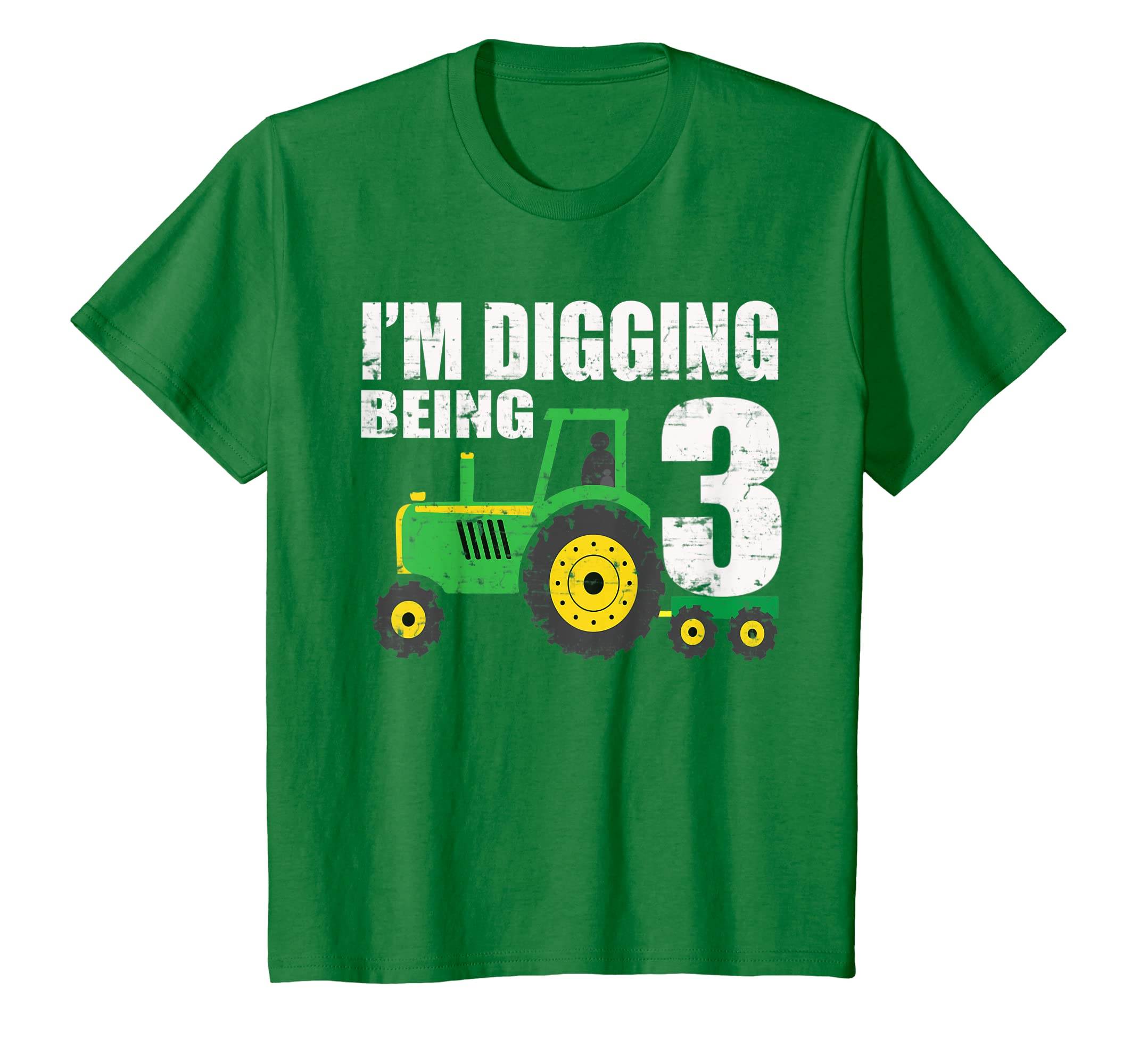 Amazon Kids 3 Year Old Tractor Birthday Shirt 3rd Bo Clothing