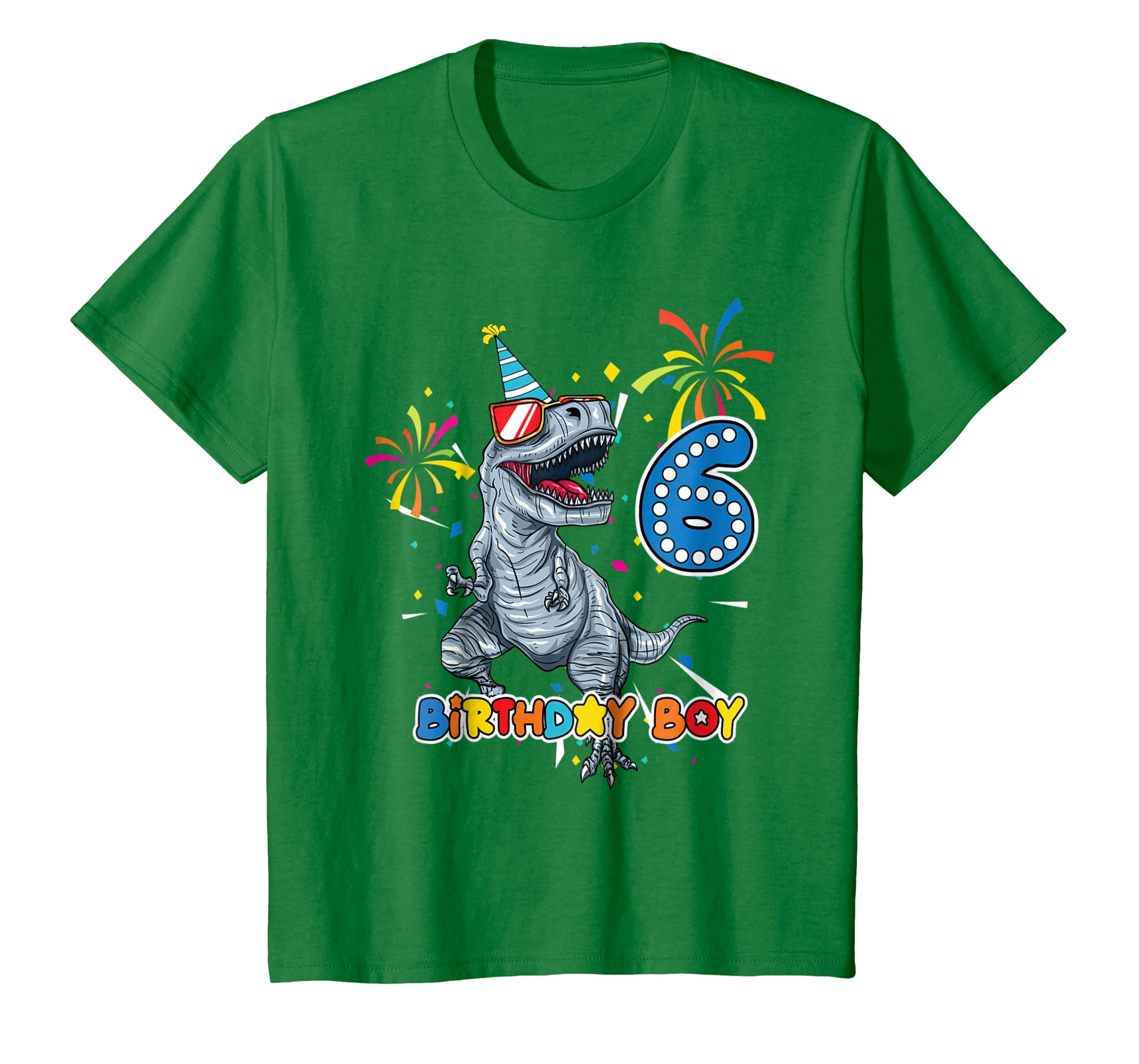 9d8a6dde4 Amazon.com: It's My 6TH Birthday Shirt Dinosaur Party for 6 year old boy:  Clothing