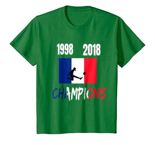 Amazon.com: Bandera de Francia Mundial campeones 1998 2018 Camisetas: Clothing