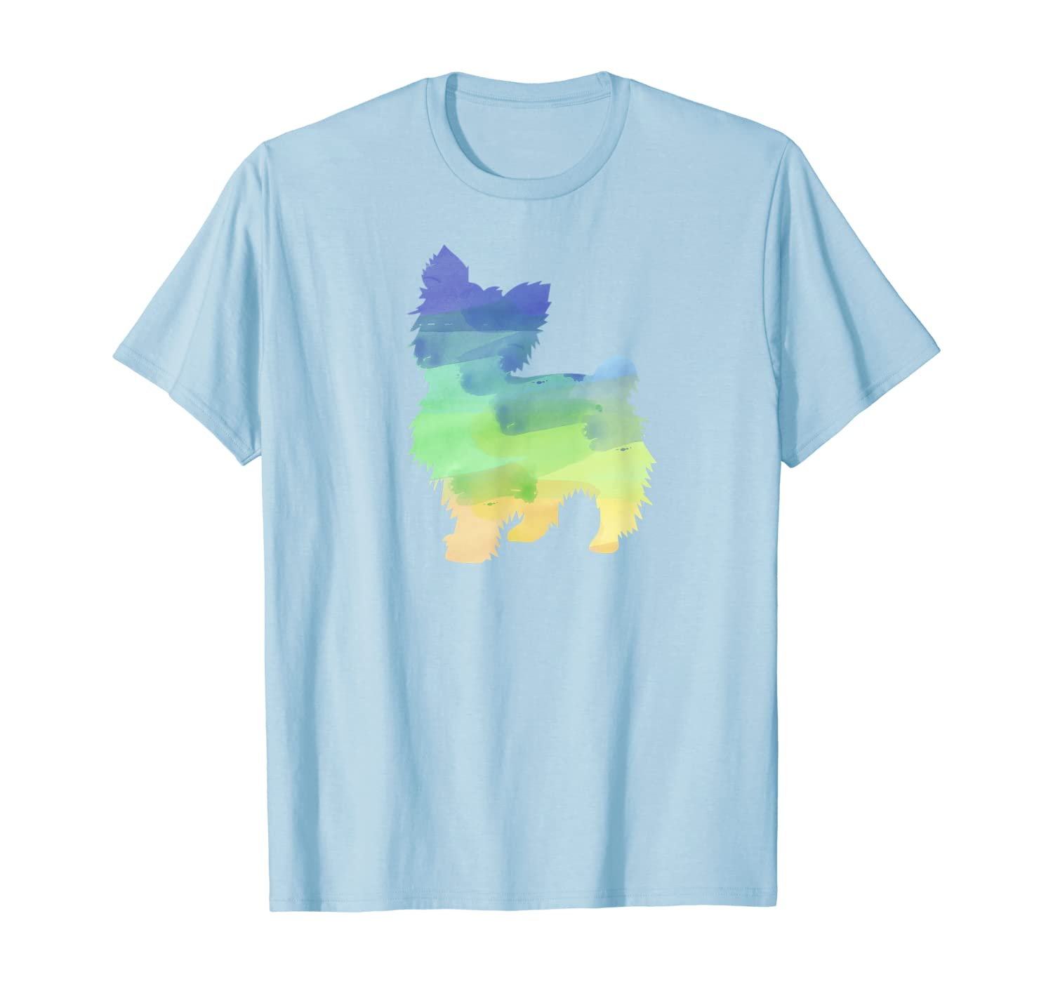 Water Colors Yorkshire Terrier Watercolor Prints Shirts