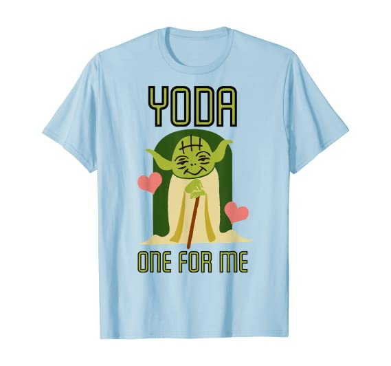 Amazon.com: Star Wars Yoda One For Me Cute Valentine's Graphic T-Shirt:  Clothing