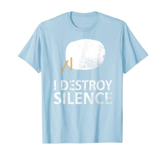 Amazon Com I Destroy Silence Funny Taiko Players T Shirt Clothing