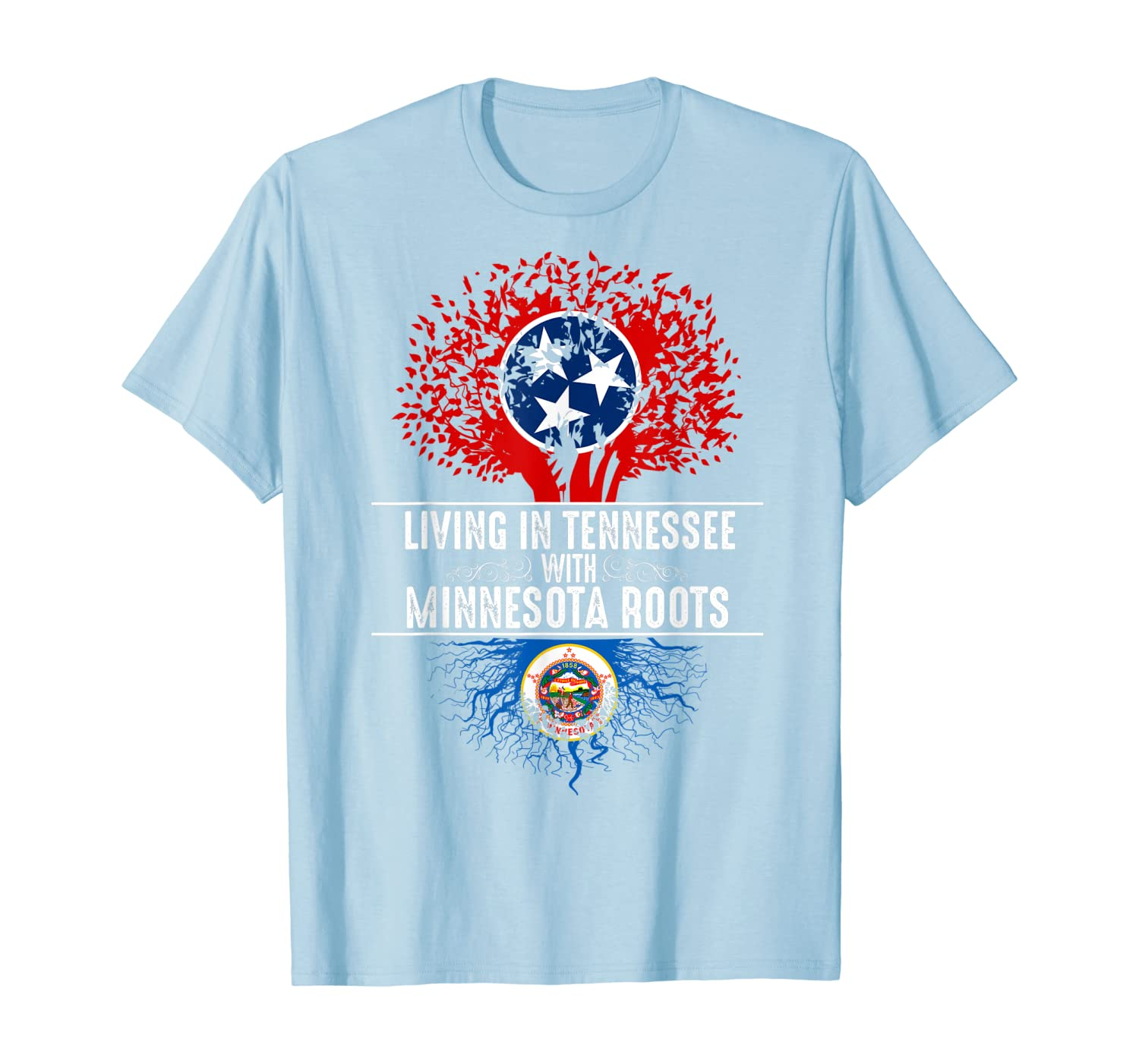 Tennessee Home Minnesota Roots State Tree Flag Shirt Gift