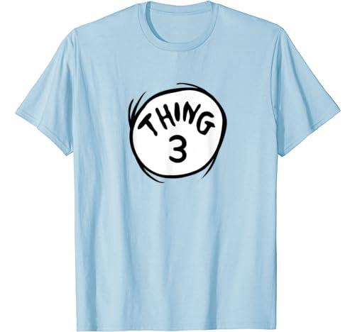 Dr. Seuss Thing 3 Emblem Color Option T Shirt