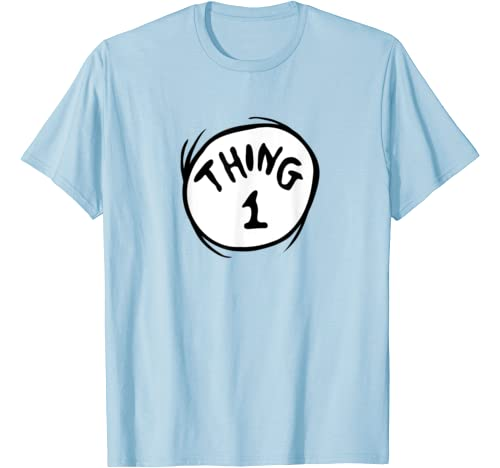 Dr. Seuss Thing 1 Emblem Color Option T Shirt