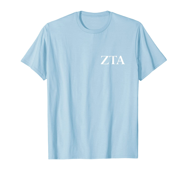 Zeta Tau Alpha Zta Pocket Area Letters Alumni Gift Usa Shirts