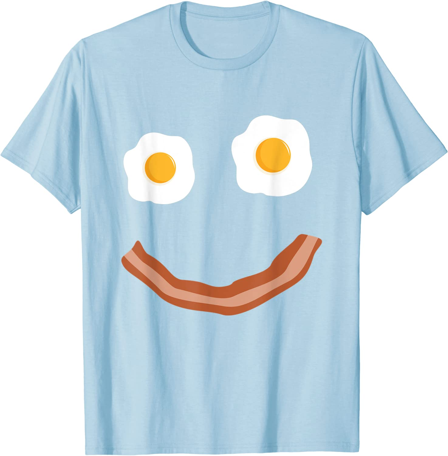 SMILE FACE BACON /& EGGS HAPPY BREAKFAST FOOD SHIRT ADULT SIZE EXTRA LARGE XL